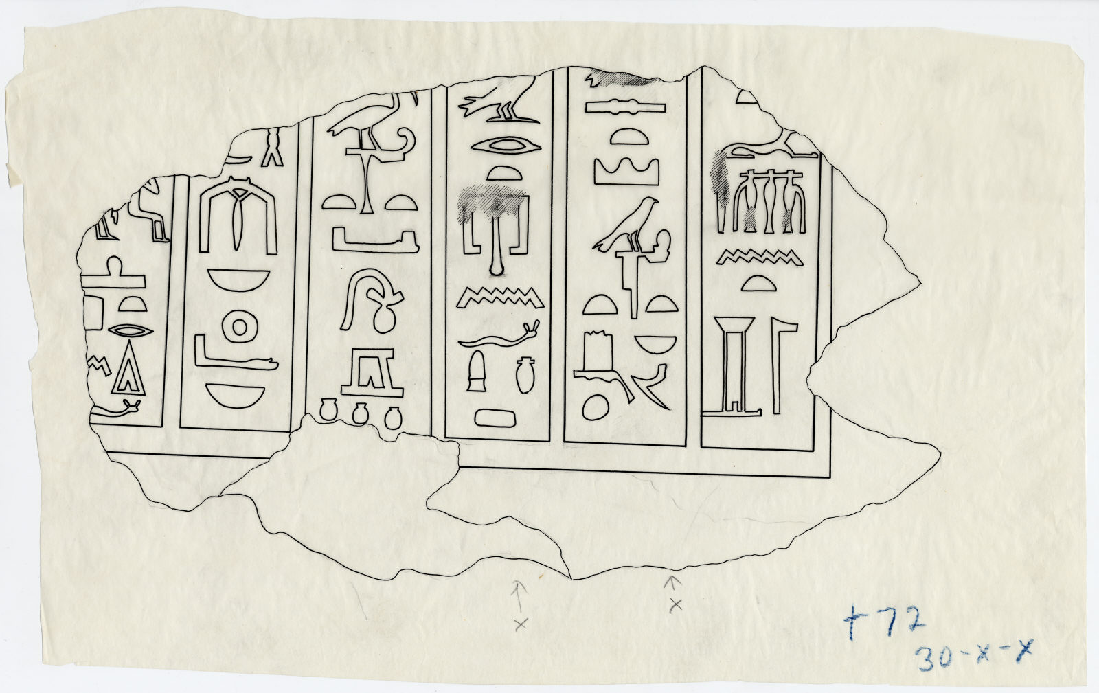 Drawings: G 7769: fragment of lintel