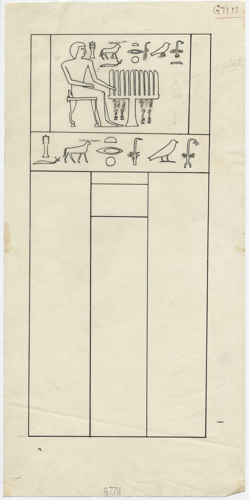 Drawings: G 7711: S false door