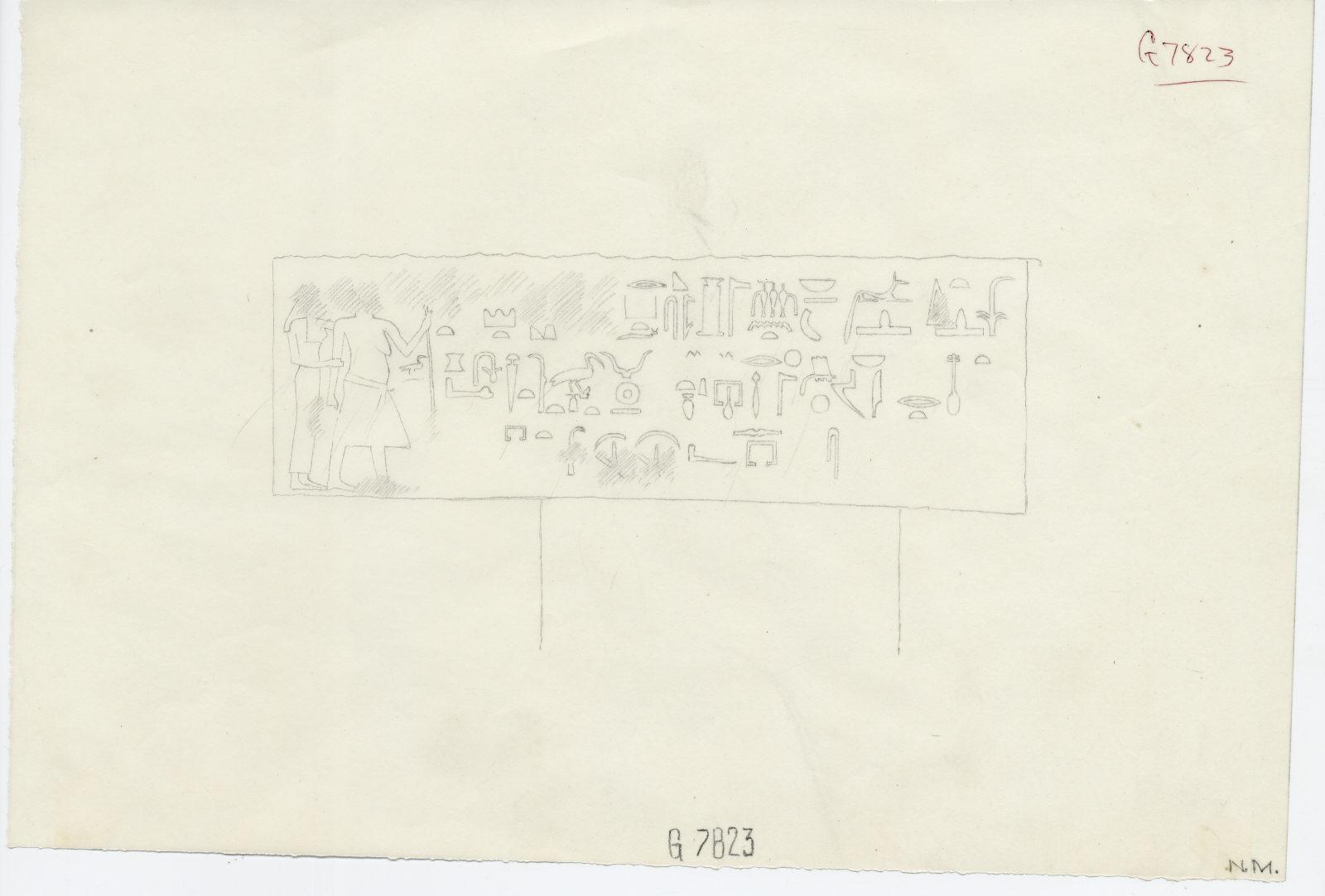 Drawings: G 7823: lintel