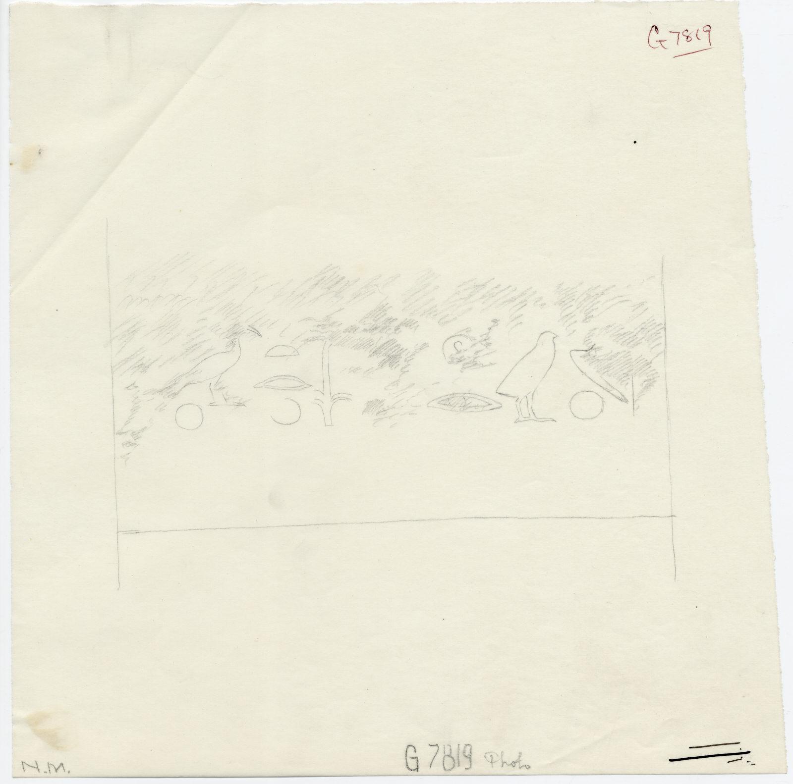 Drawings: G 7819: drum lintel