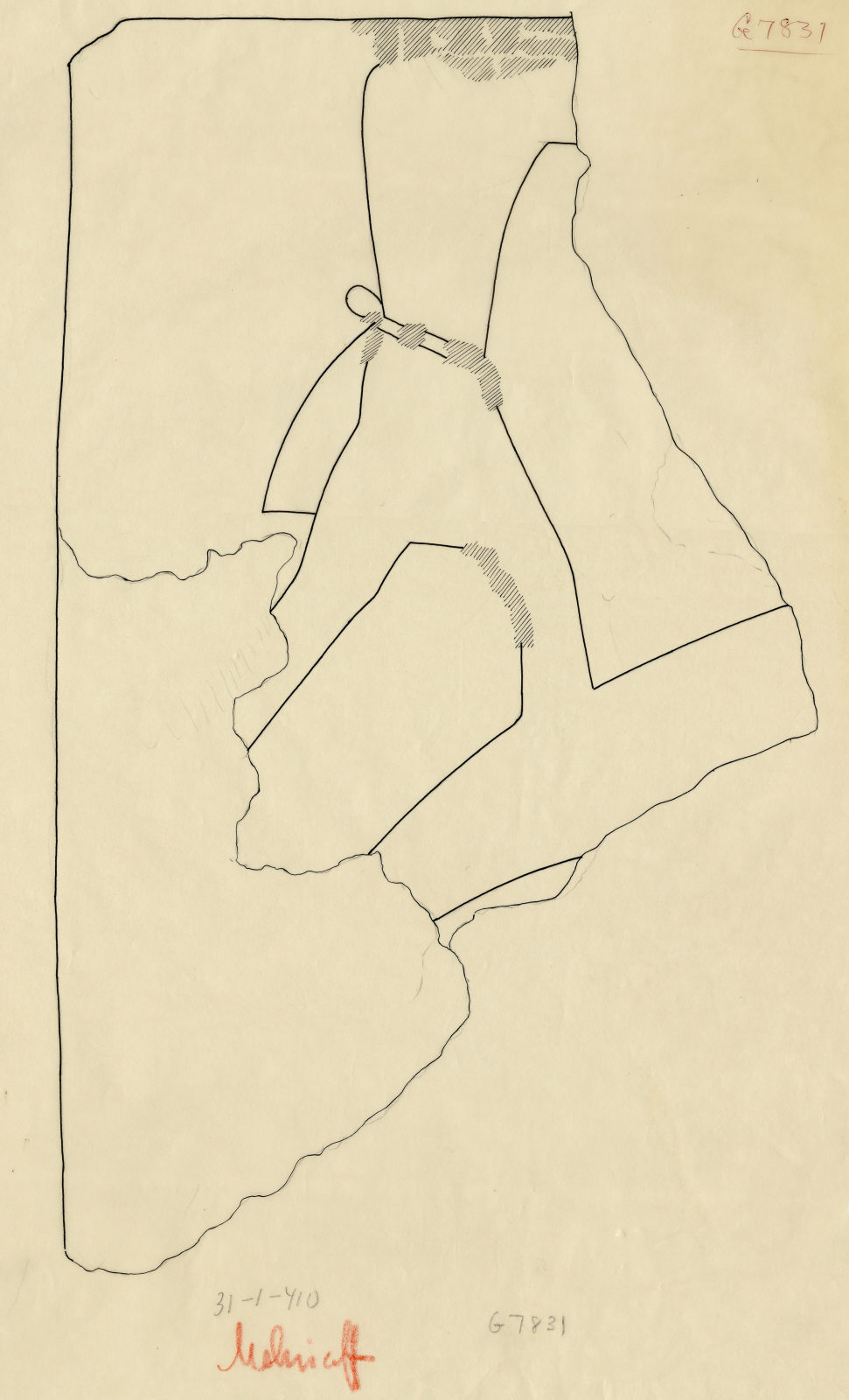 Drawings: G 7831: fragment of relief