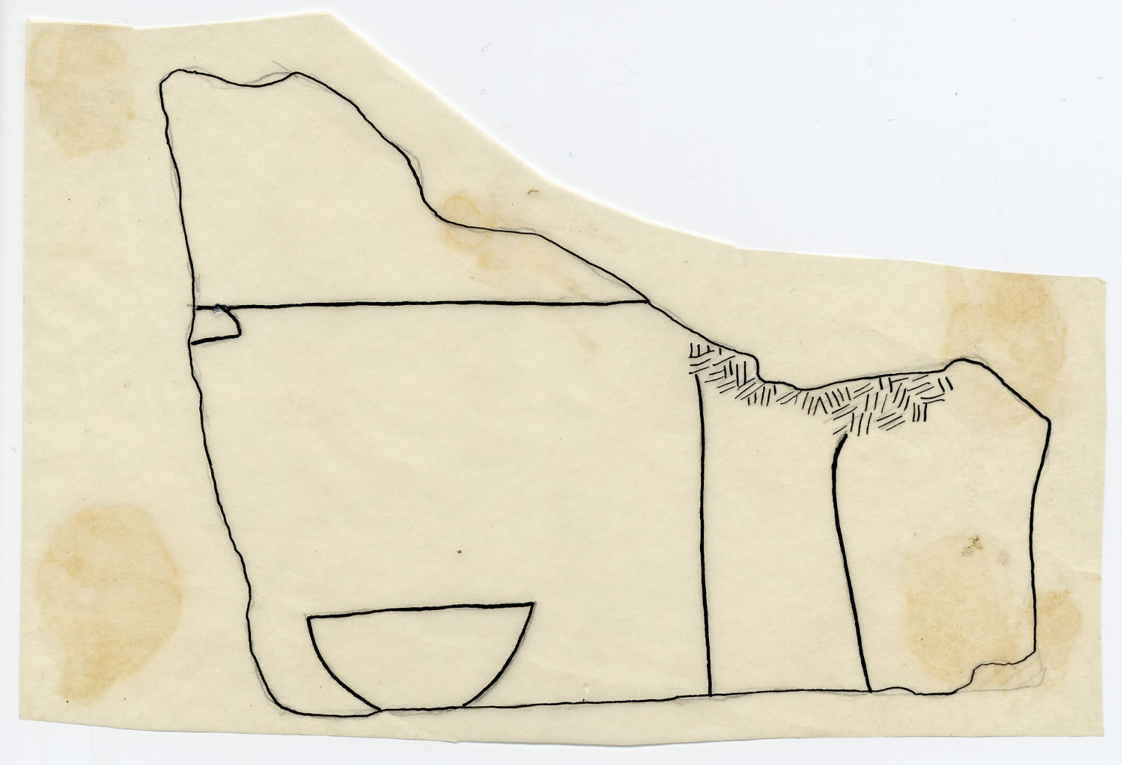 Drawings: Avenue G 4: fragment of relief