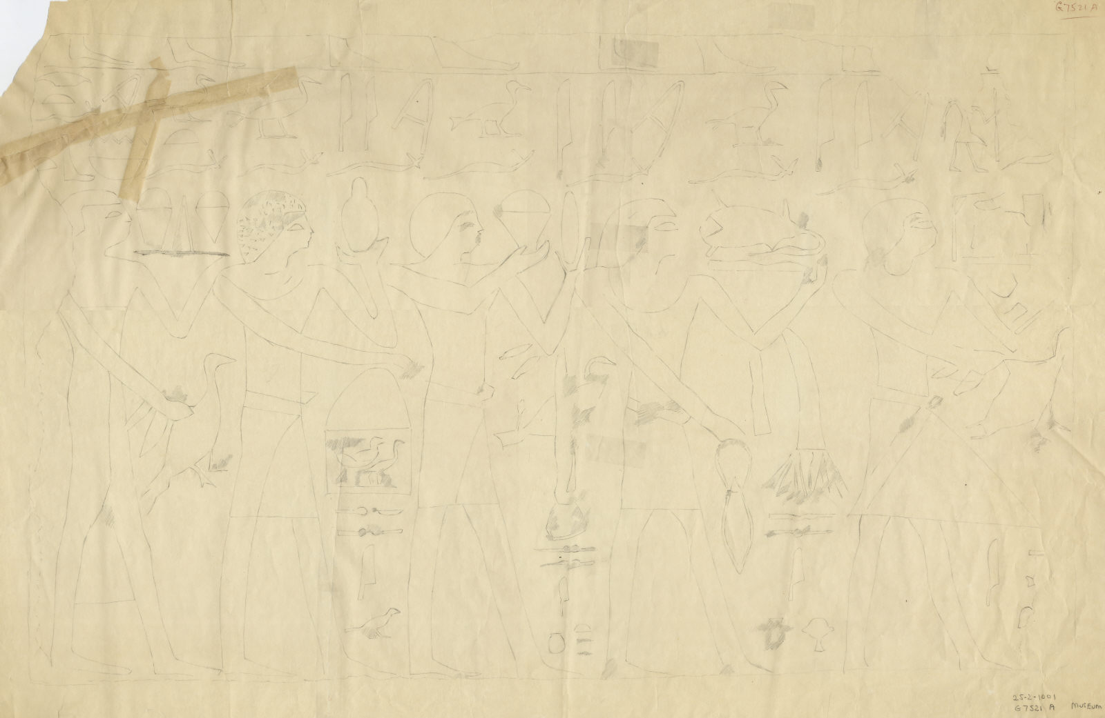 Drawings: G 7521: relief