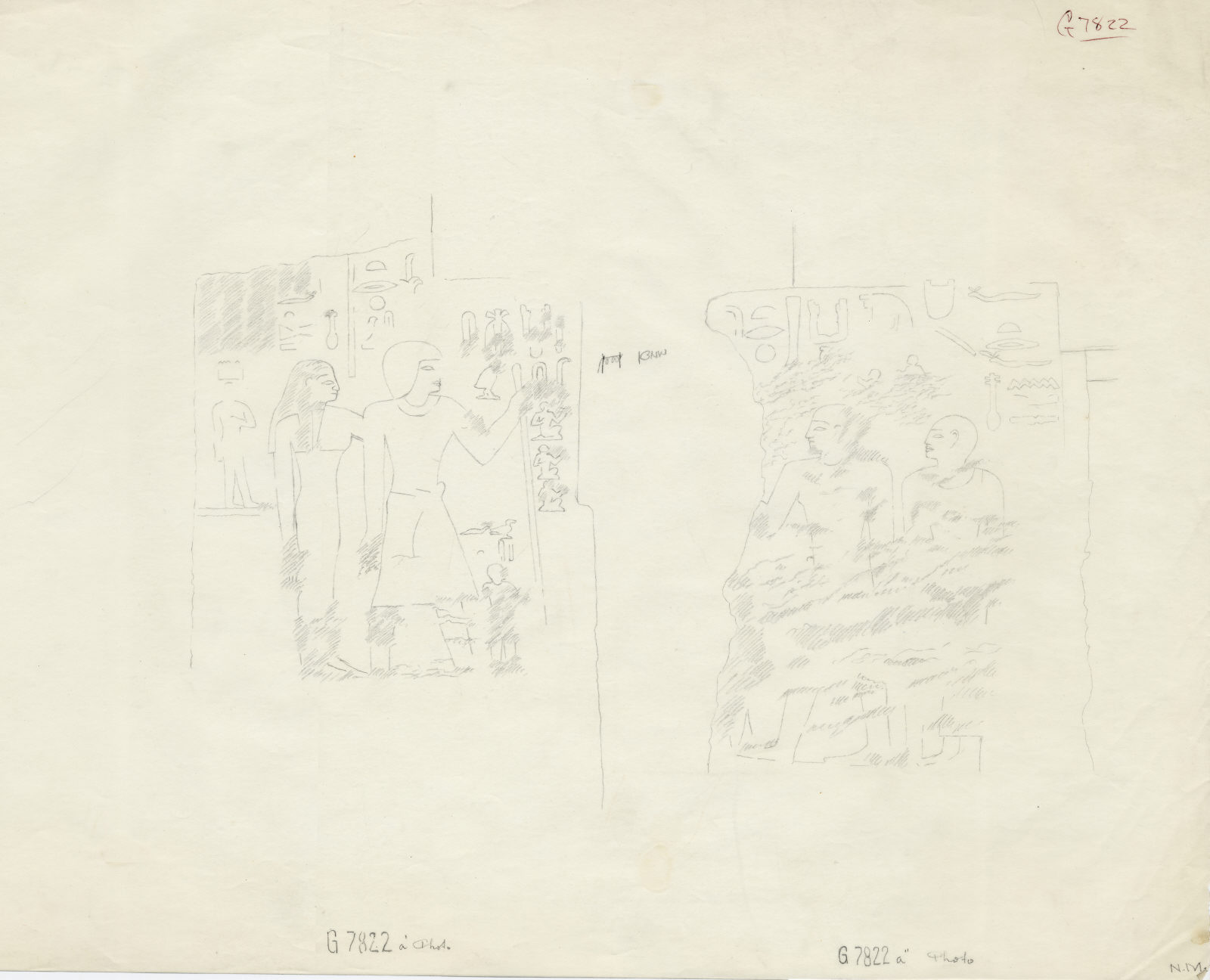 Drawings: G 7822: relief from chapel, room a, W wall