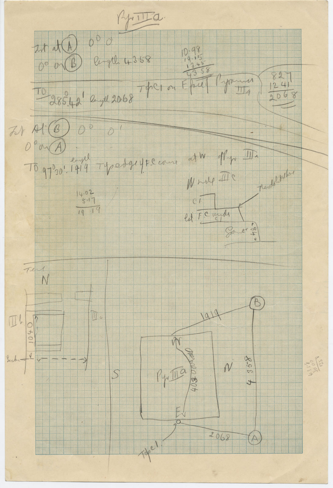 Maps and plans: G III-a: notes and sketches