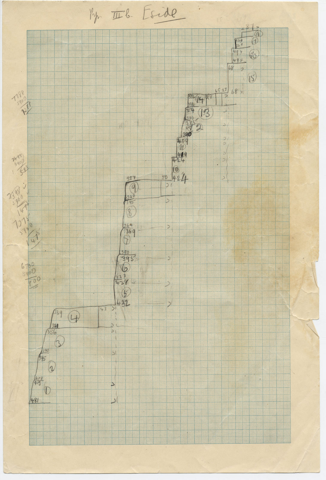 Maps and plans: Sketch section of pyramid G III-b, E side