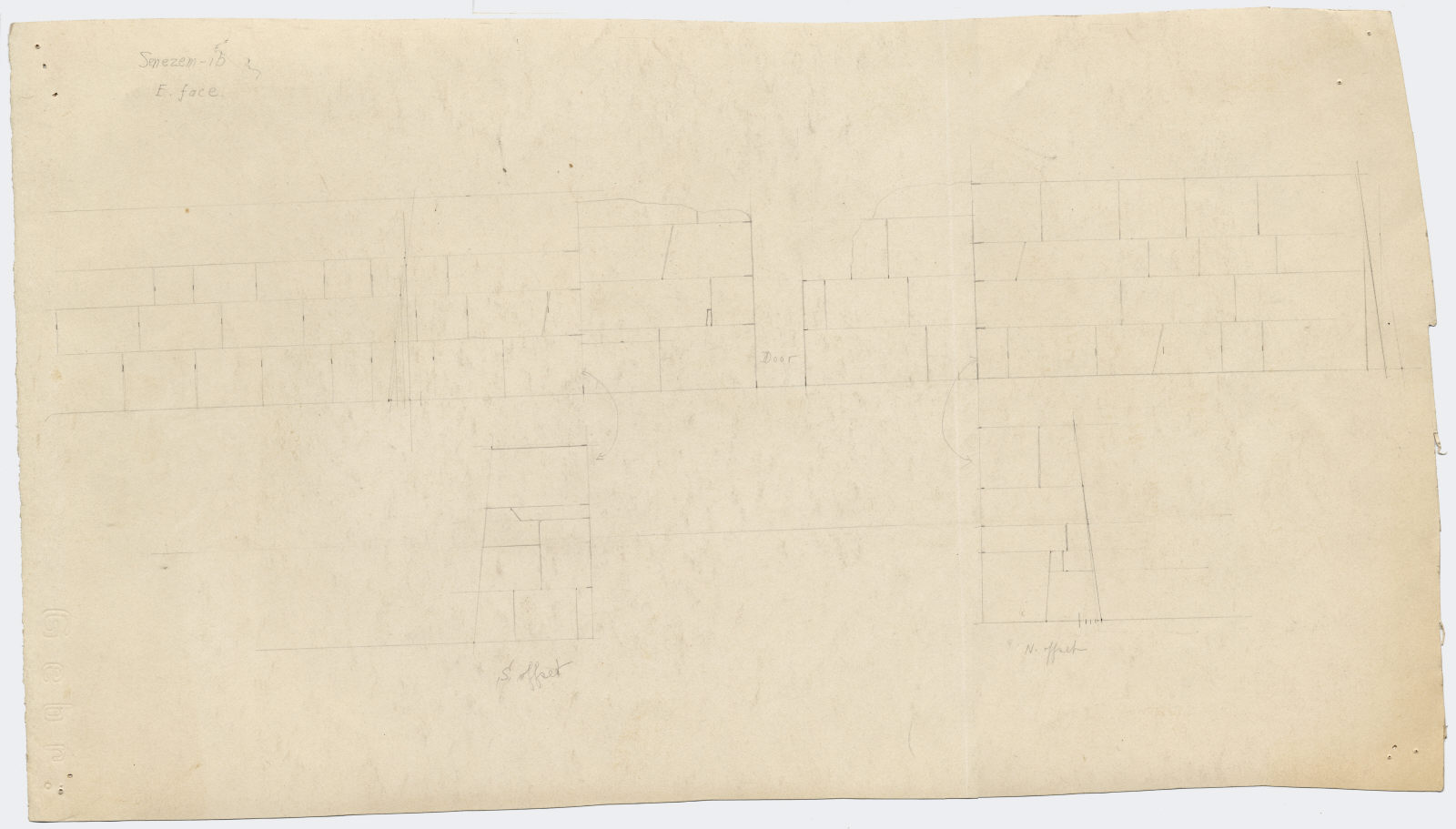 Maps and plans: Elevation of G 2370, E face