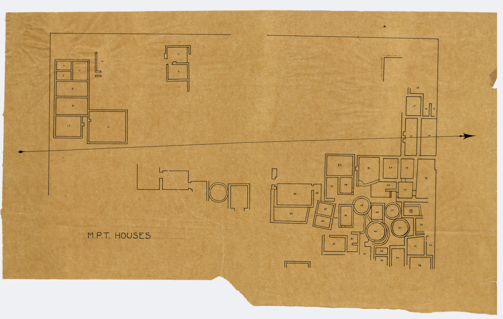 Maps and plans: Menkaure Valley Temple, plan of houses