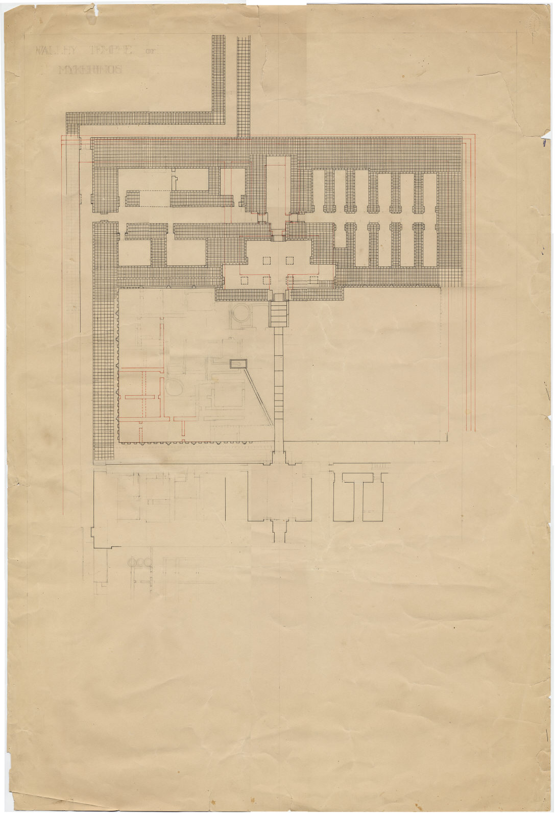 Maps and plans: Menkaure Valley Temple, Plan (partial)