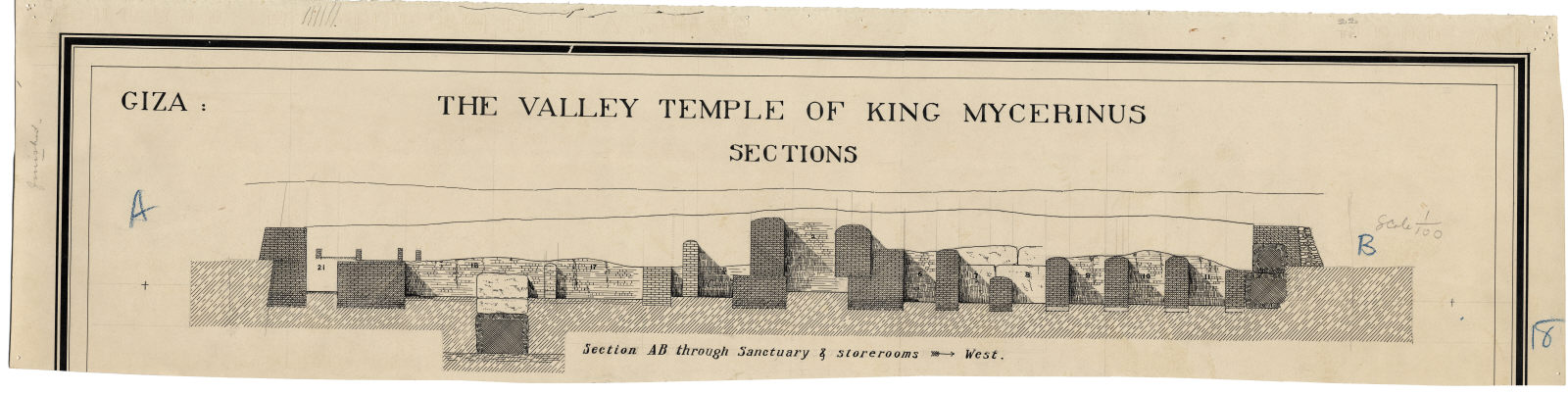 Maps and plans: Menkaure Valley Temple, Section