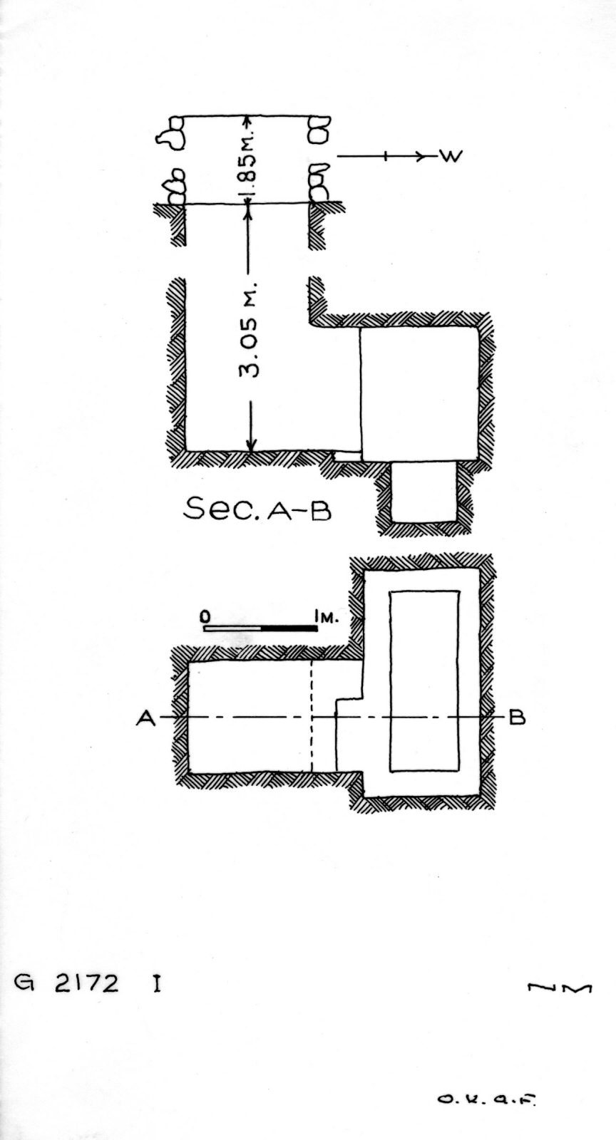 Maps and plans: G 2172, Shaft I