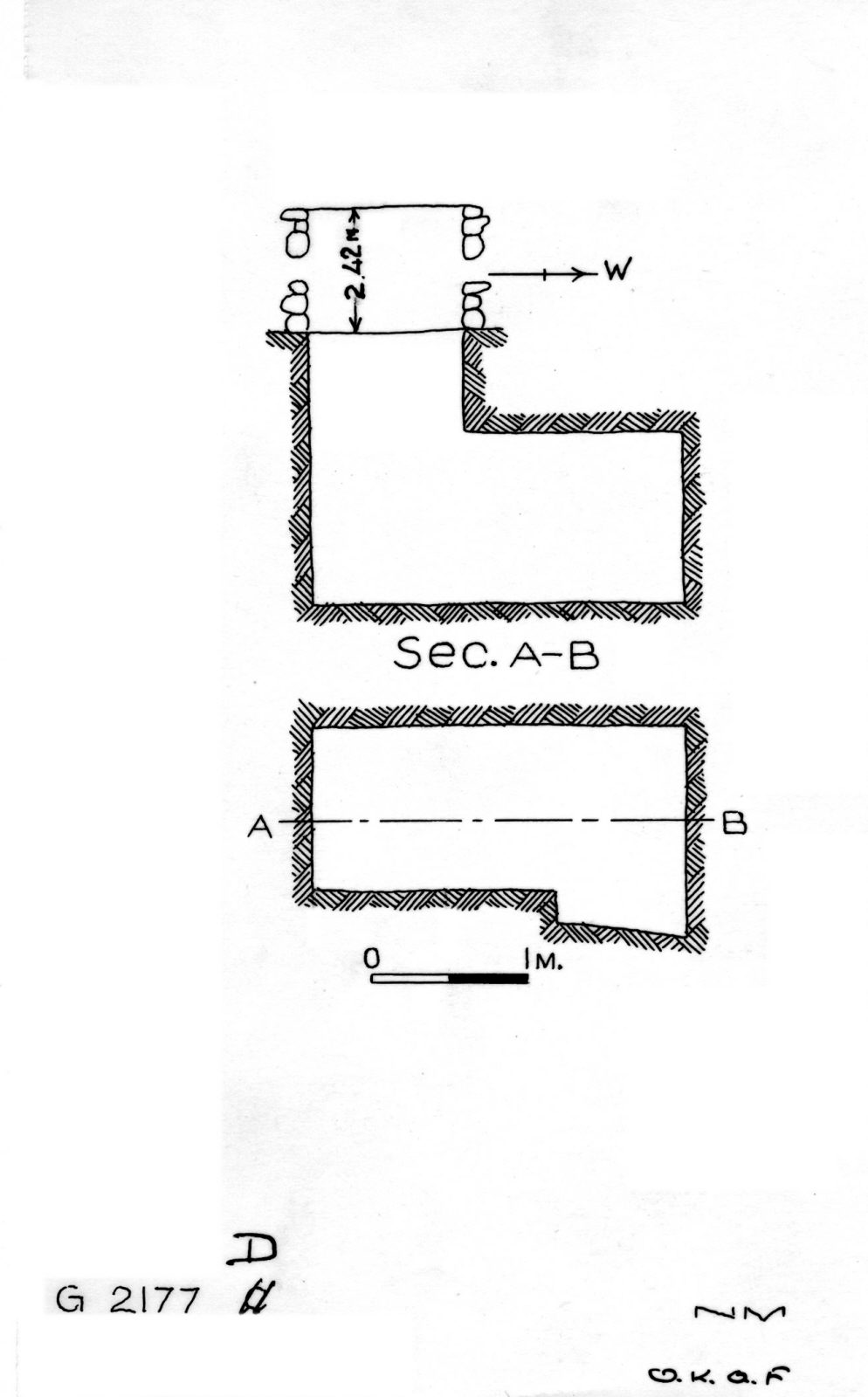 Maps and plans: G 2177, Shaft D
