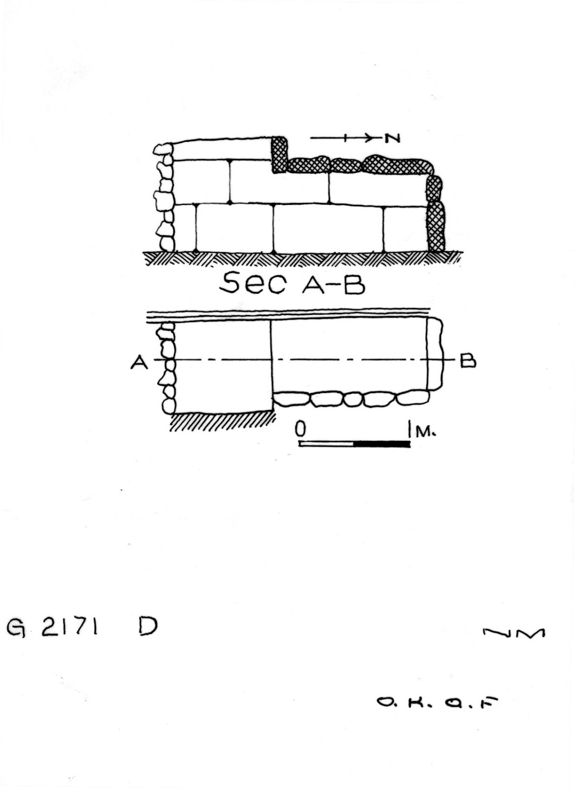 Maps and plans: G 2171, Shaft D