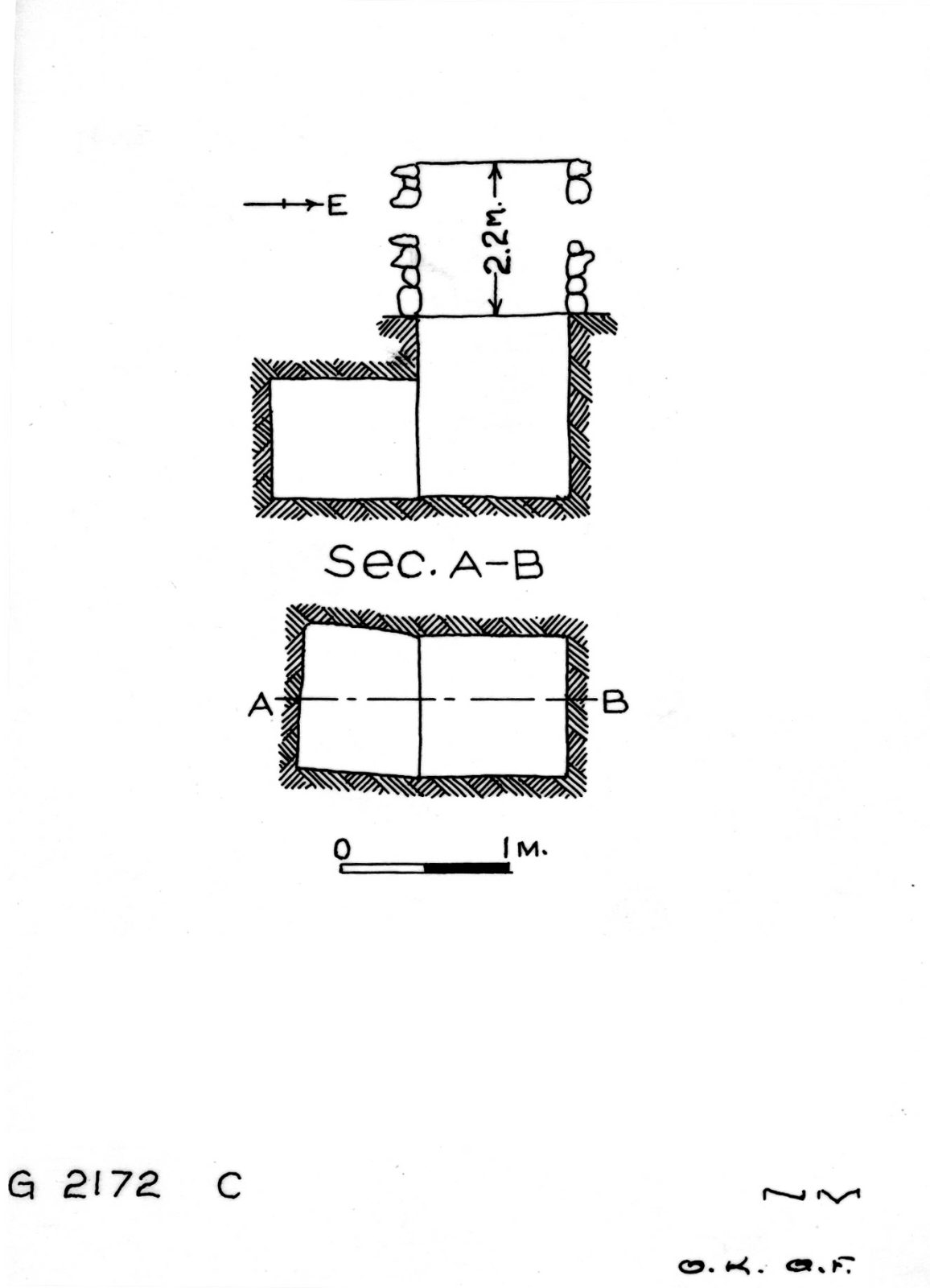 Maps and plans: G 2172, Shaft C