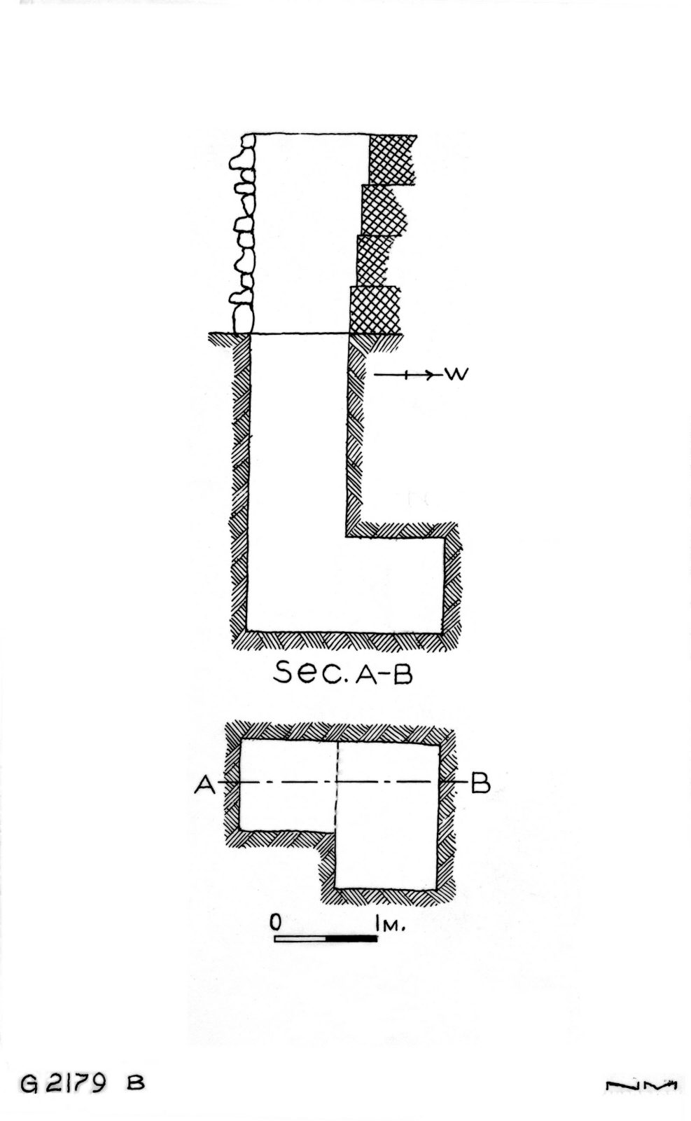 Maps and plans: G 2179, Shaft B