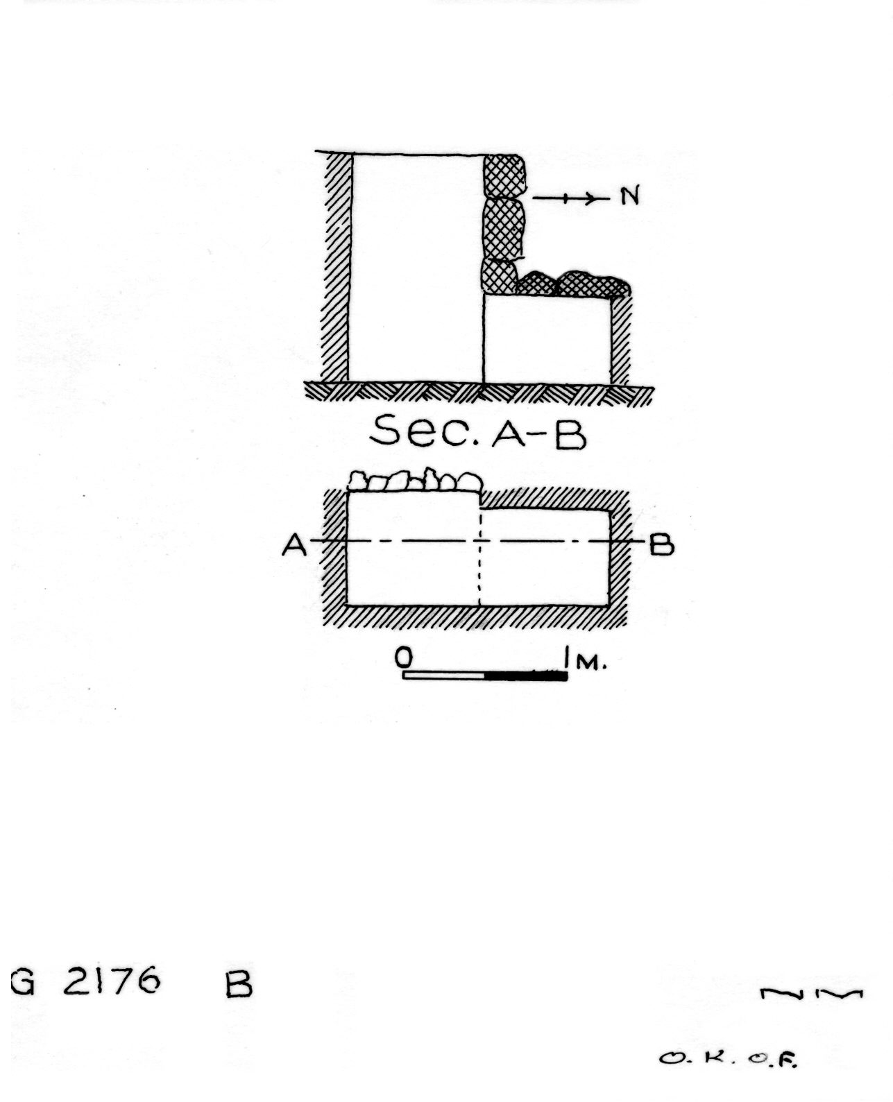 Maps and plans: G 2176, Shaft B