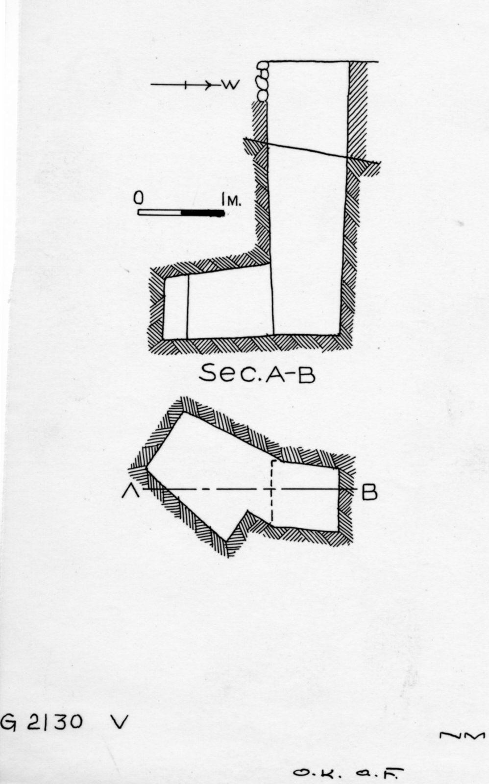 Maps and plans: G 2130, Shaft V