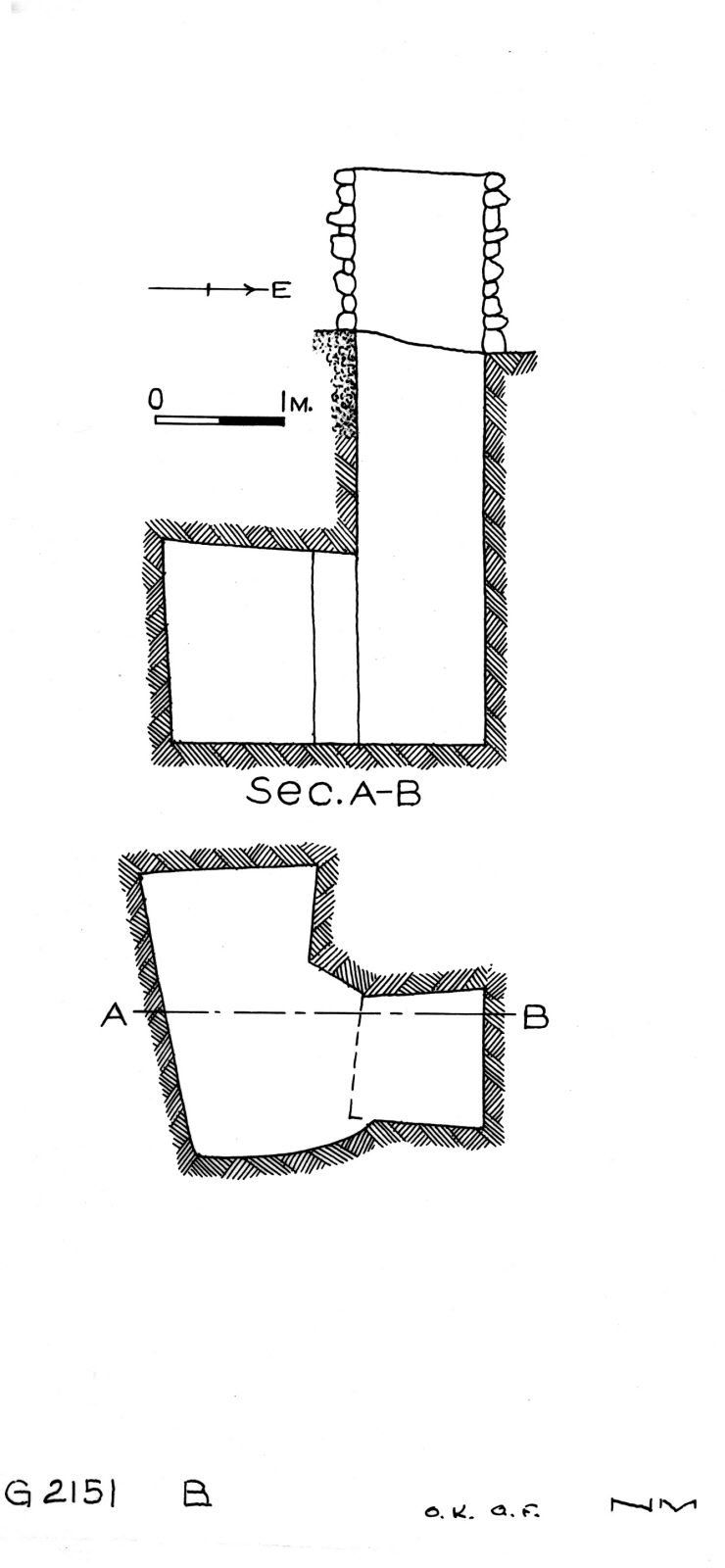 Maps and plans: G 2151, Shaft B