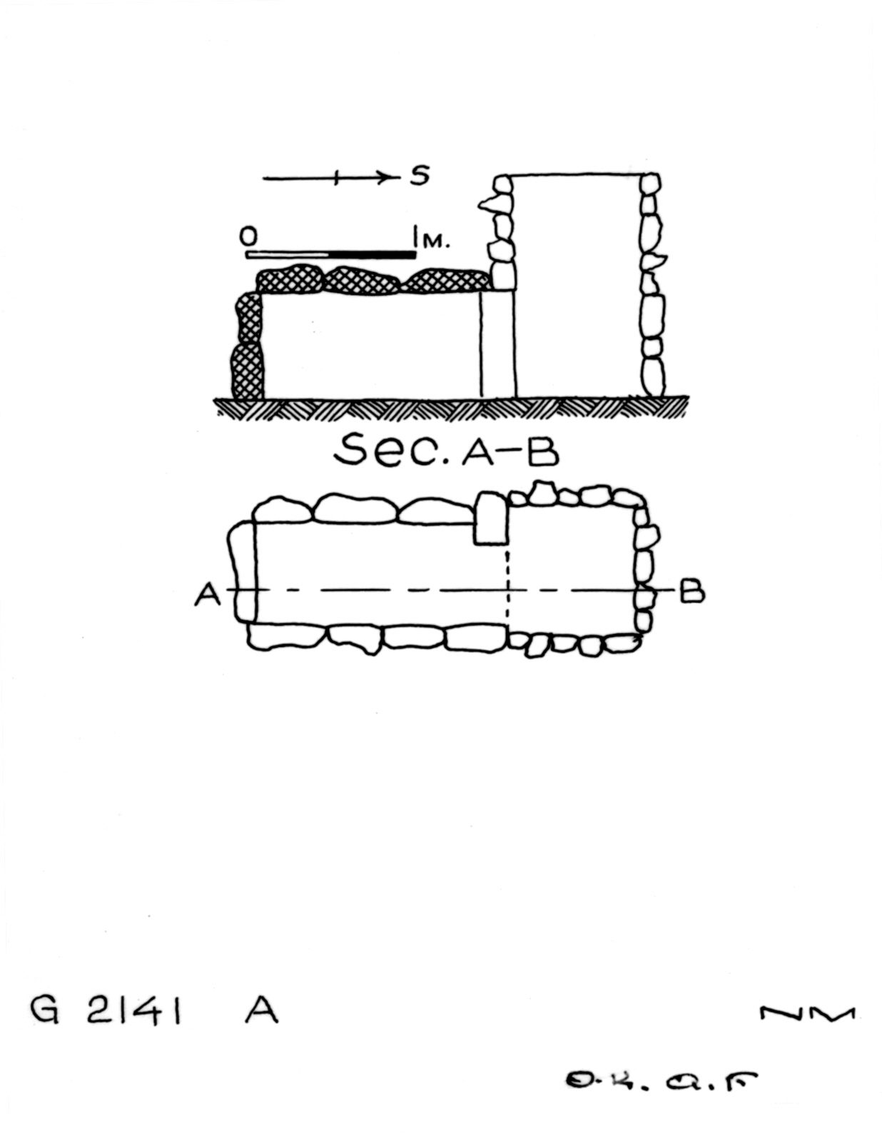 Maps and plans: G 2141, Shaft A