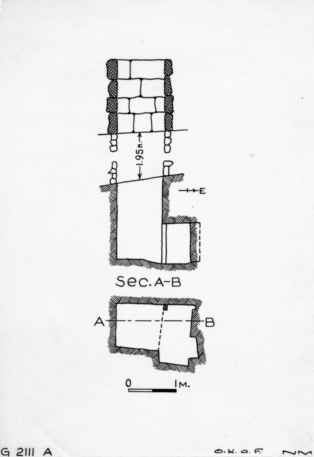 Maps and plans: G 2111, Shaft A