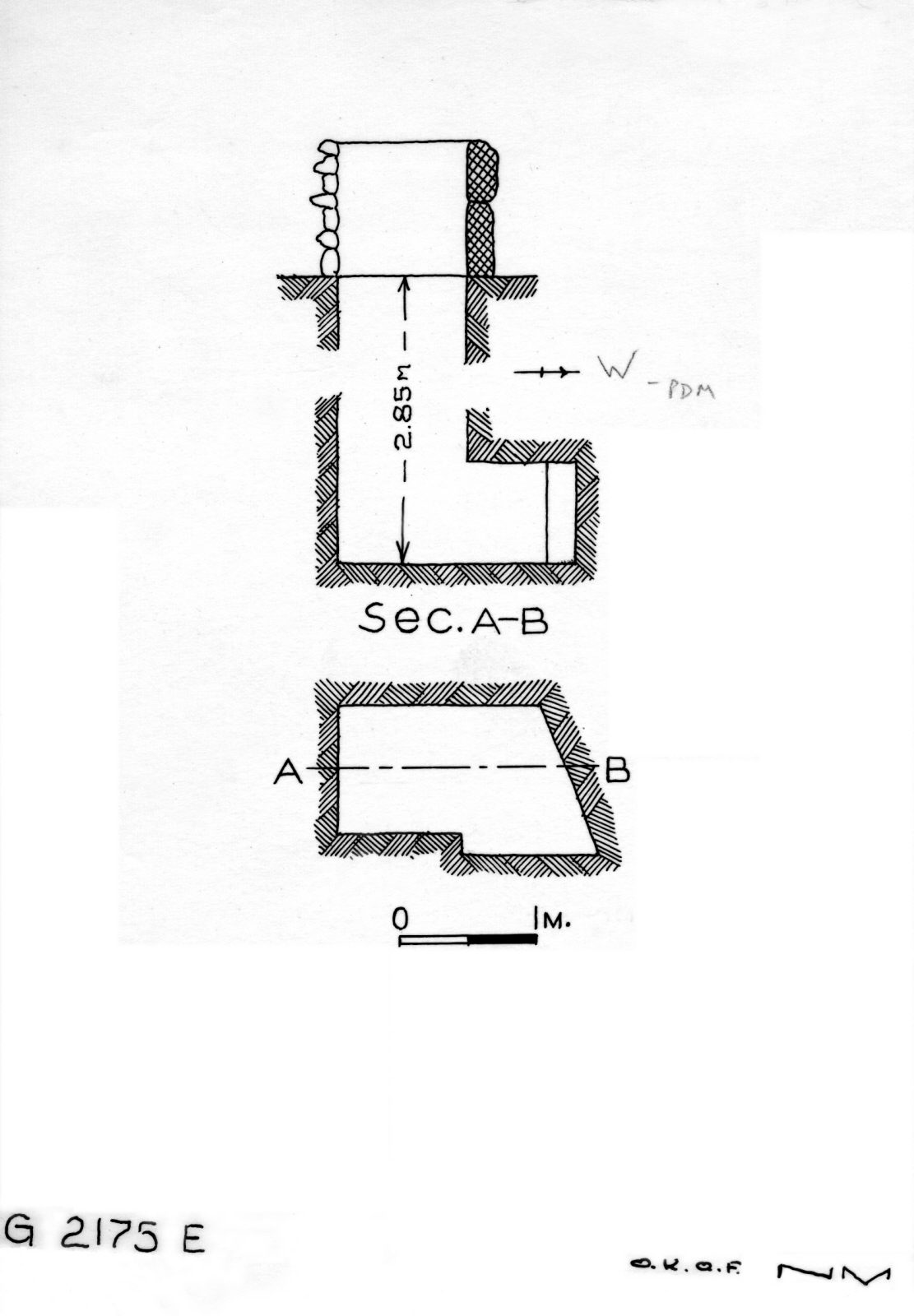 Maps and plans: G 2175, Shaft E