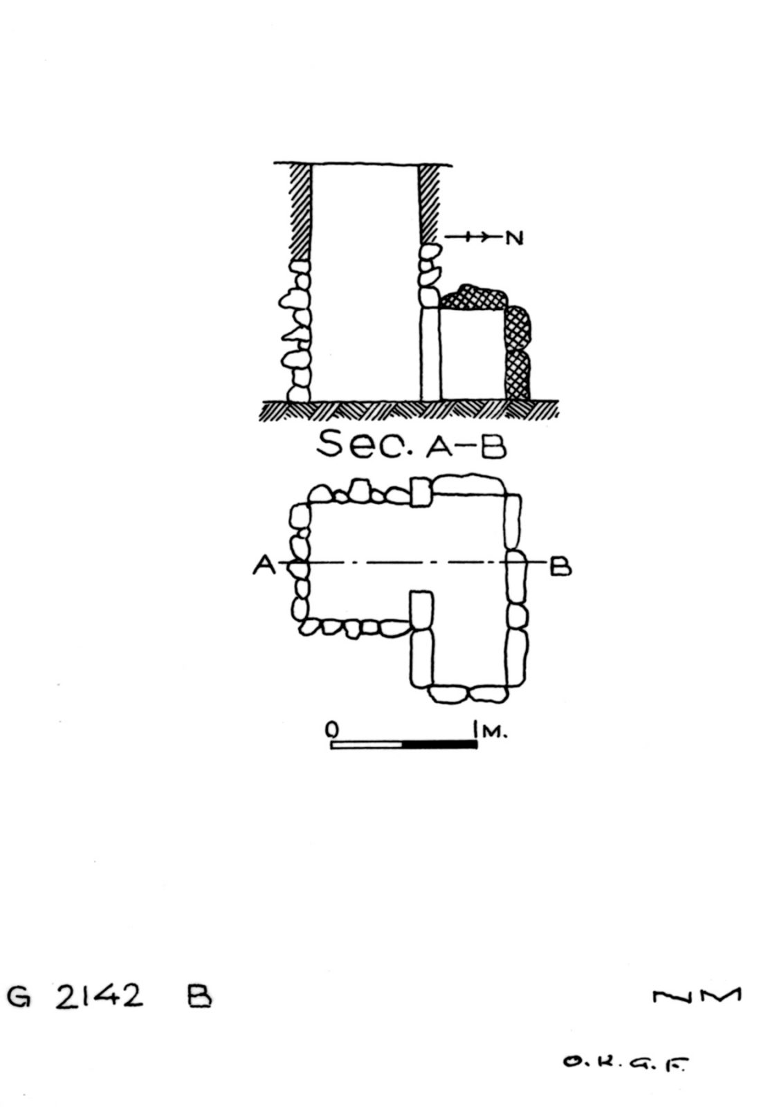 Maps and plans: G 2142, Shaft B