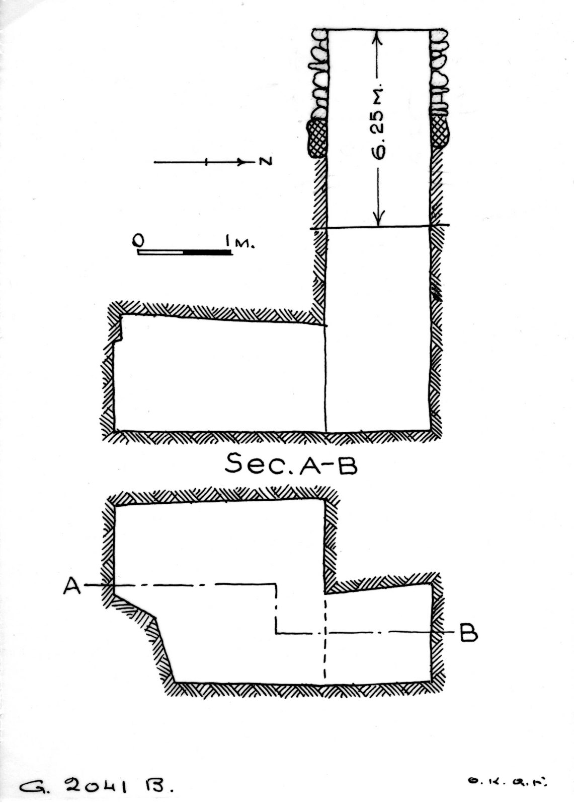Maps and plans: G 2041, Shaft B