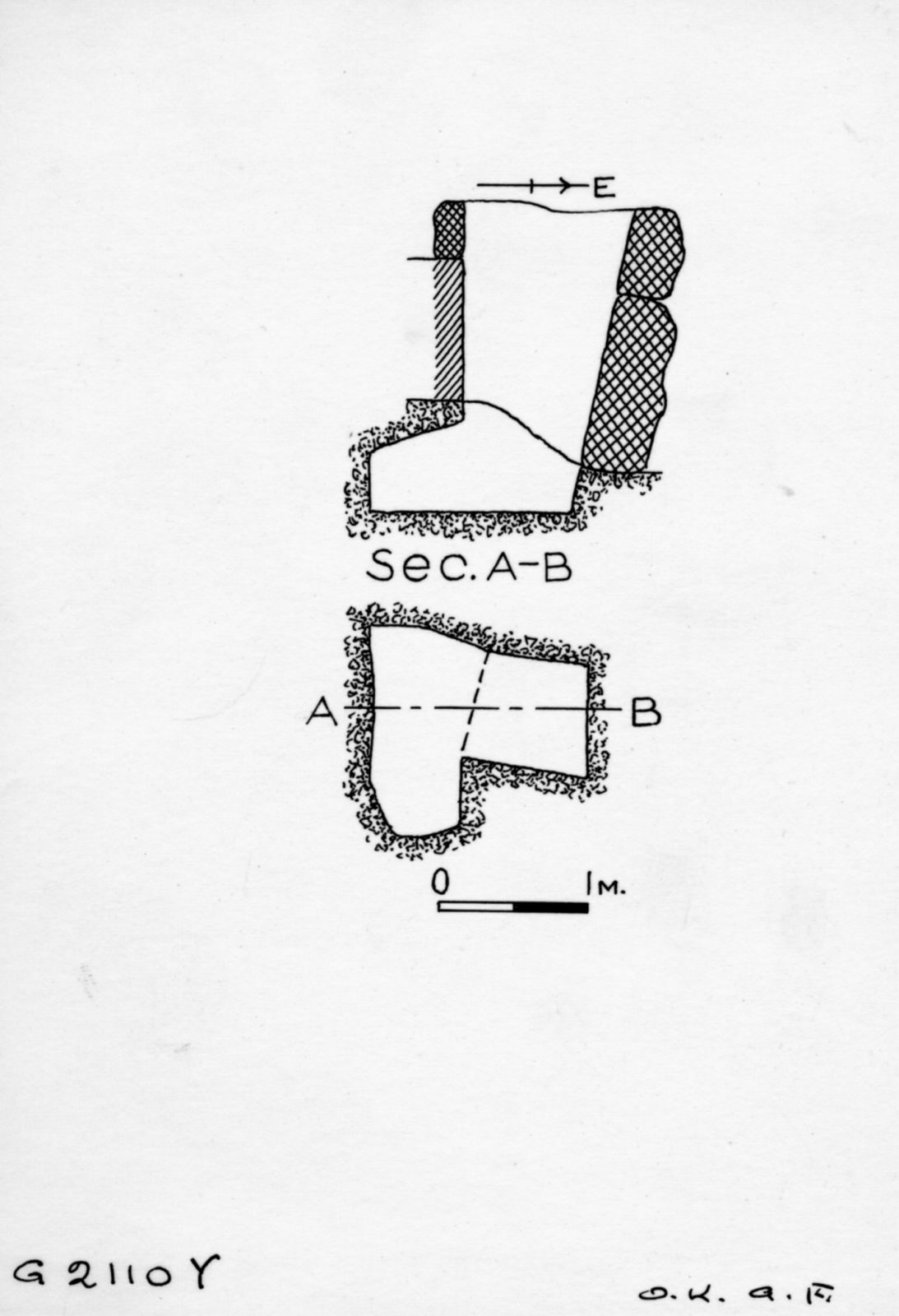 Maps and plans: G 2110, Shaft Y