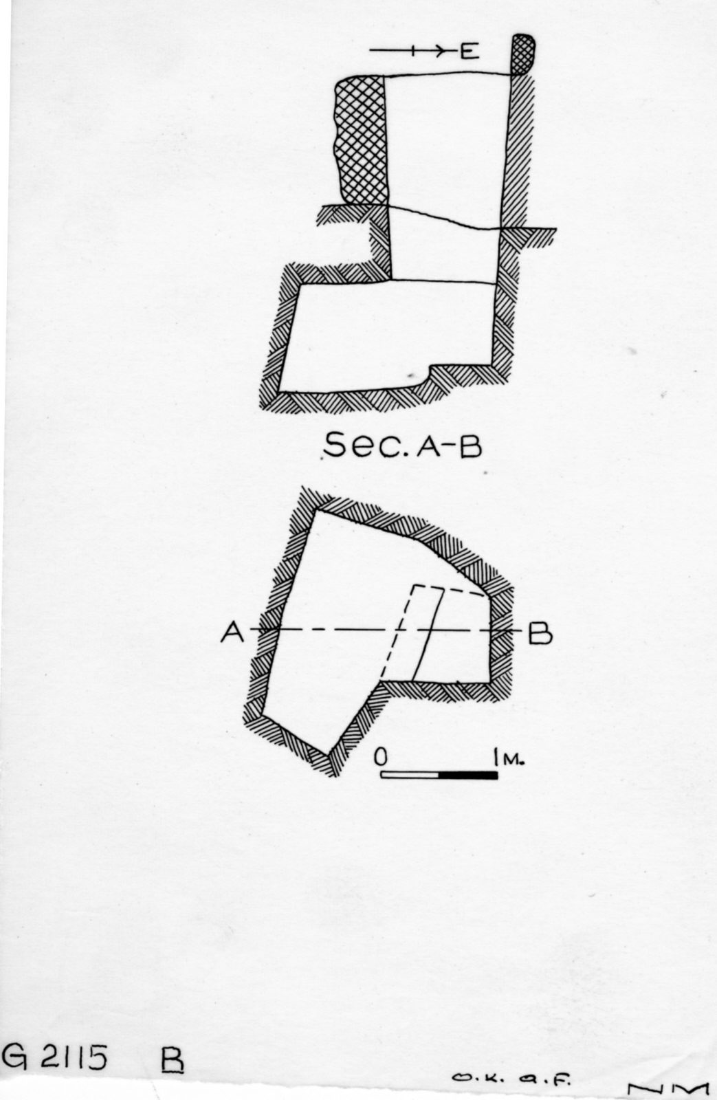 Maps and plans: G 2115, Shaft B