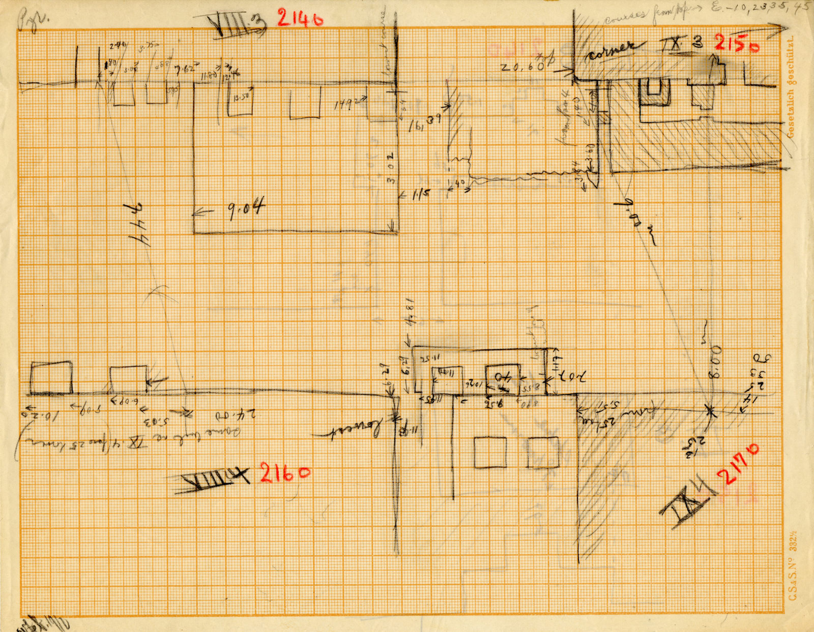 Maps and plans: Plan of G 2140, G 2150, G 2160, G 2170