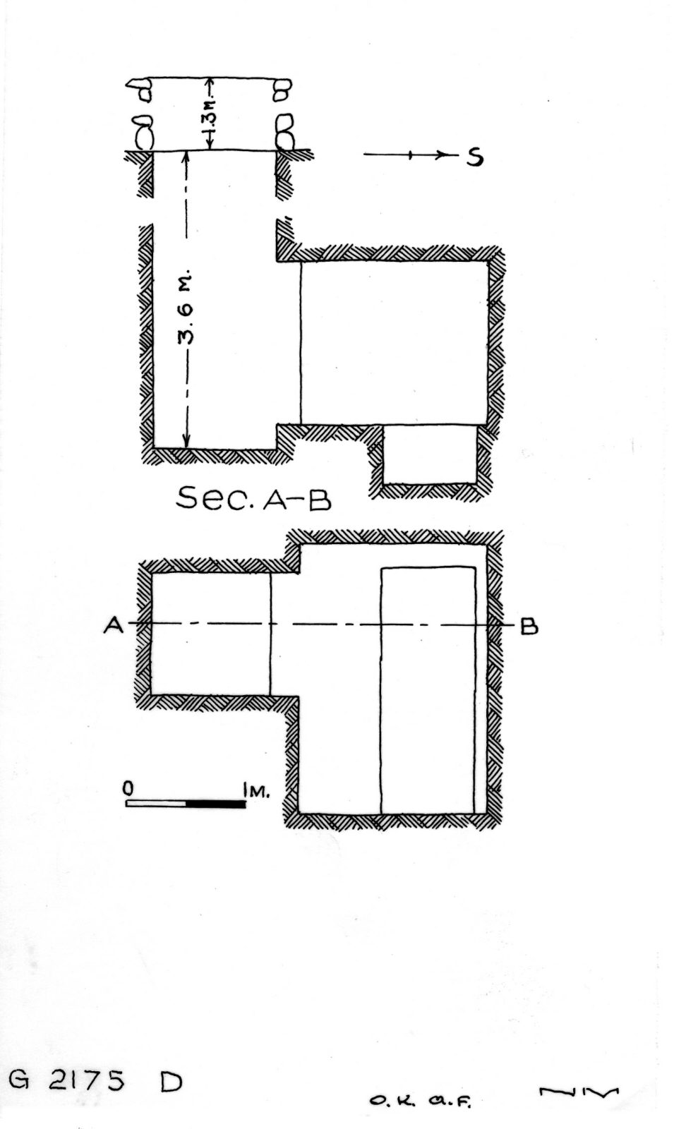Maps and plans: G 2175, Shaft D