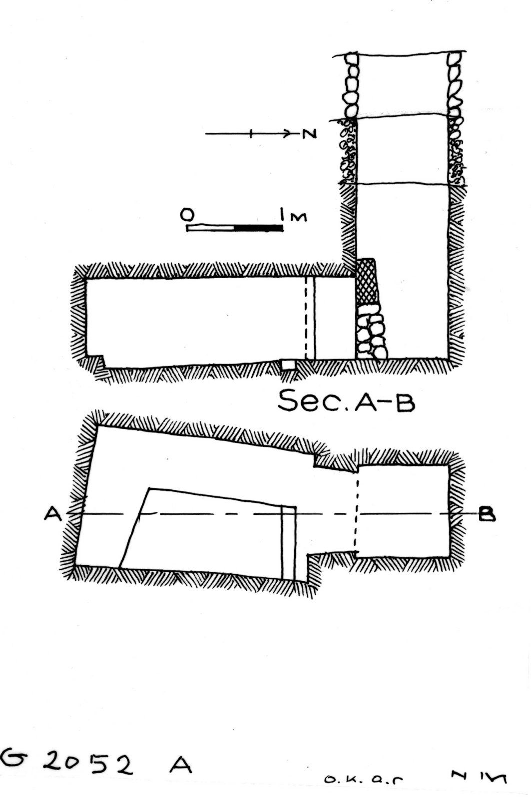 Maps and plans: G 2052, Shaft A