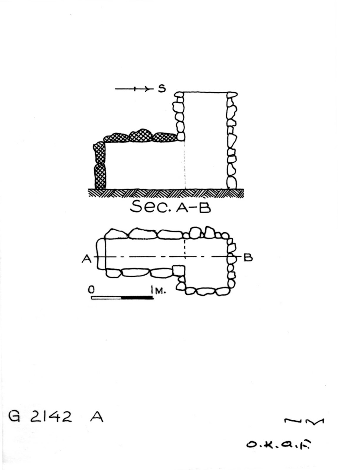 Maps and plans: G 2142, Shaft A