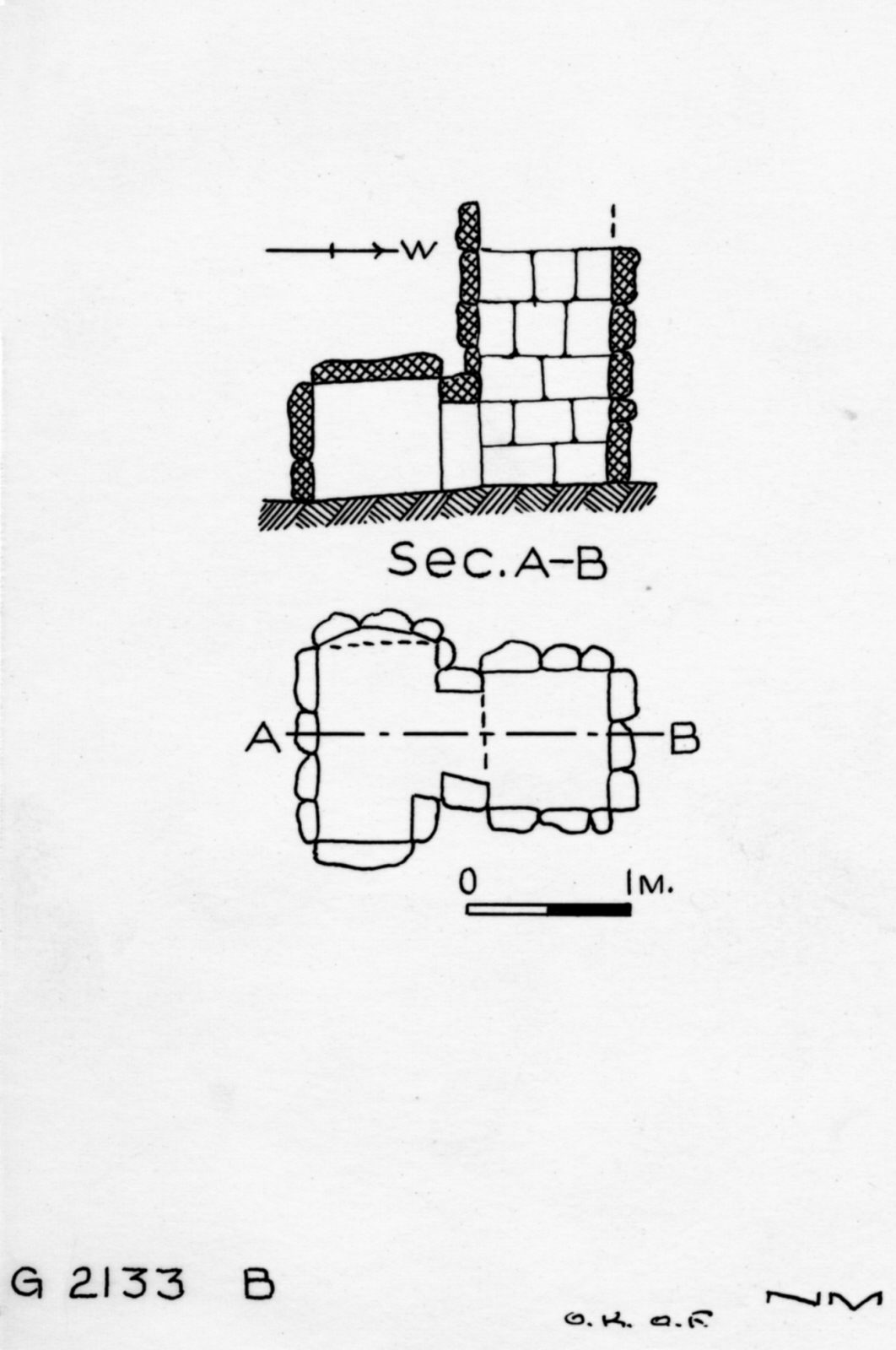 Maps and plans: G 2133, Shaft B
