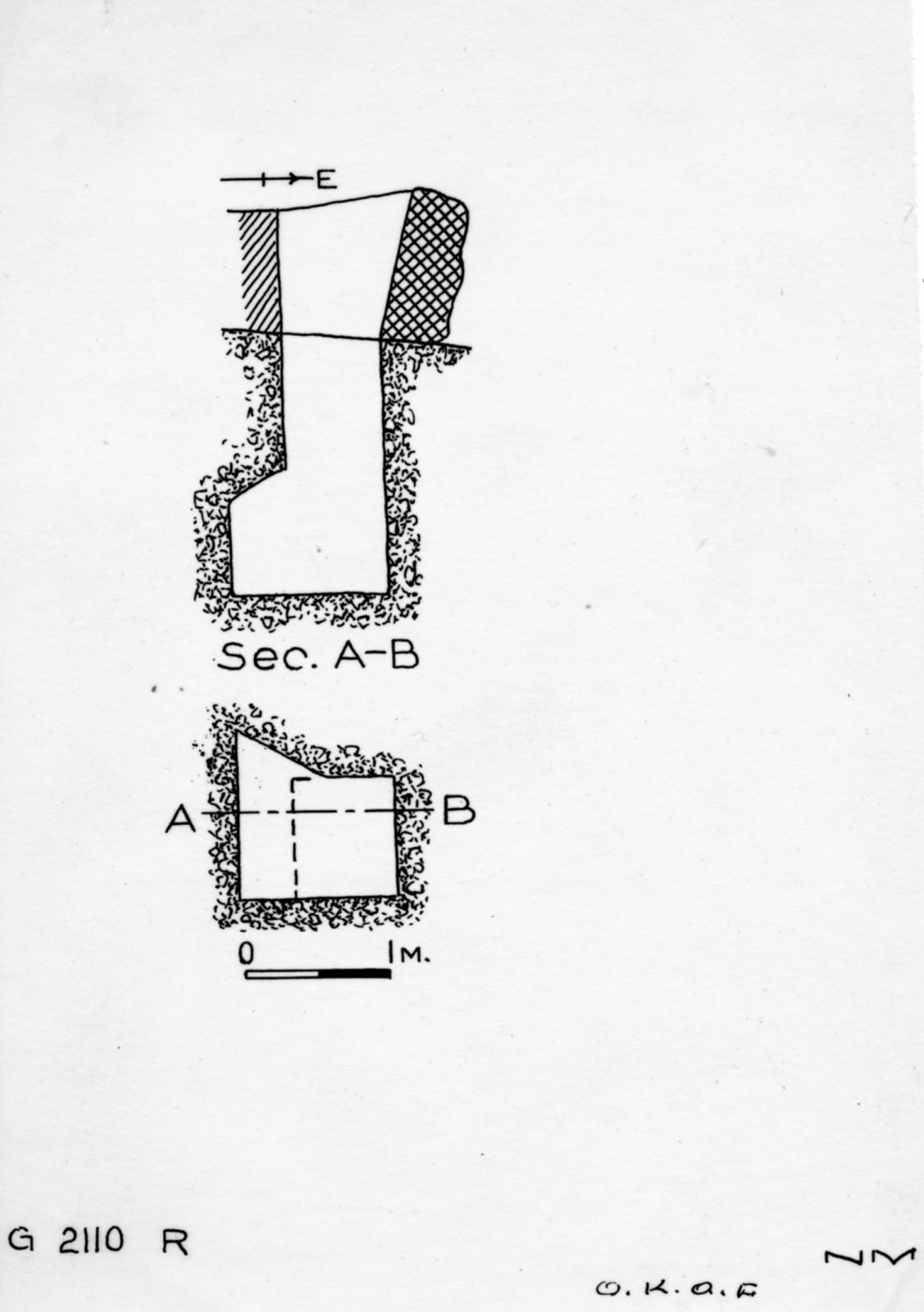Maps and plans: G 2110, Shaft R