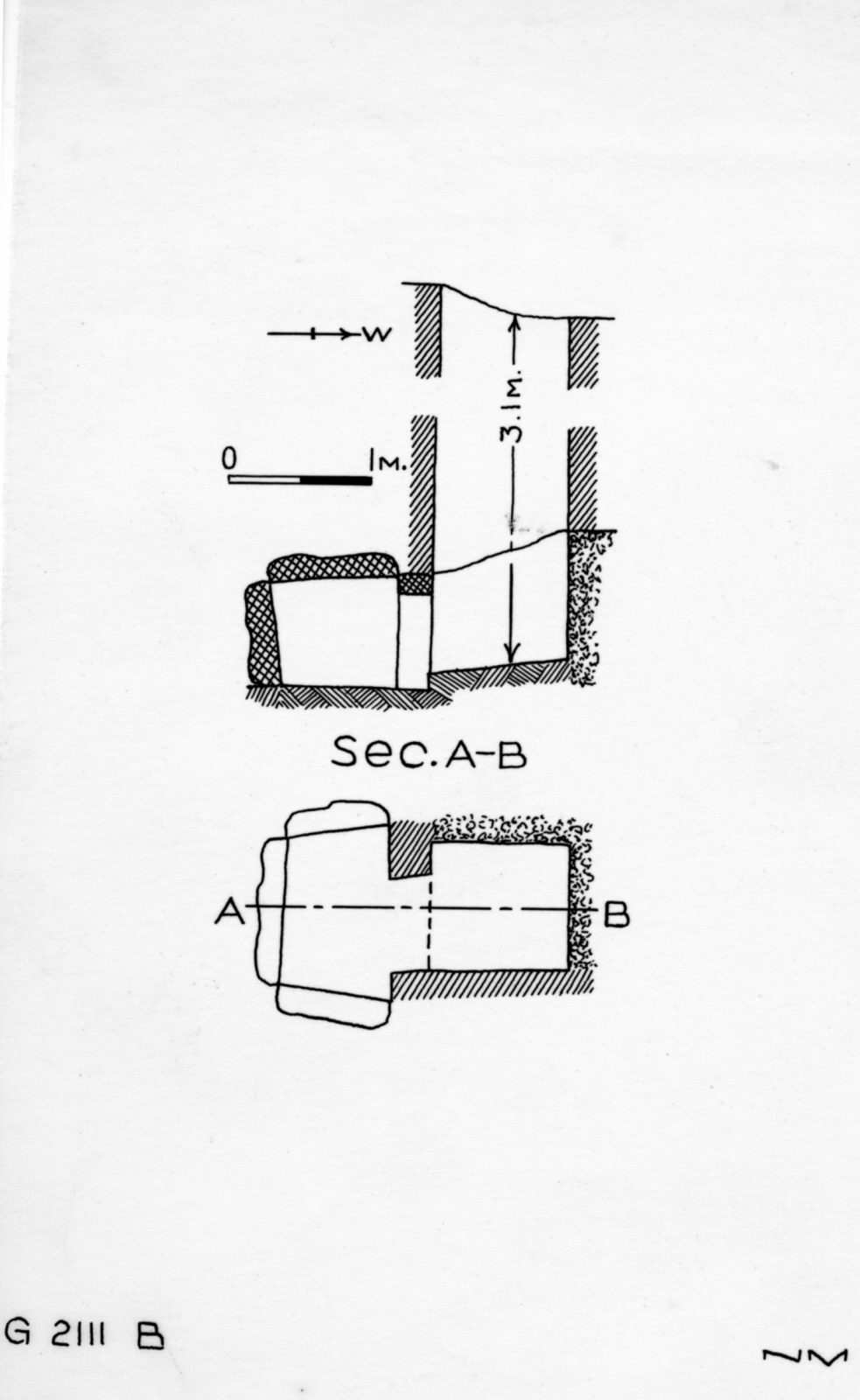 Maps and plans: G 2111, Shaft B