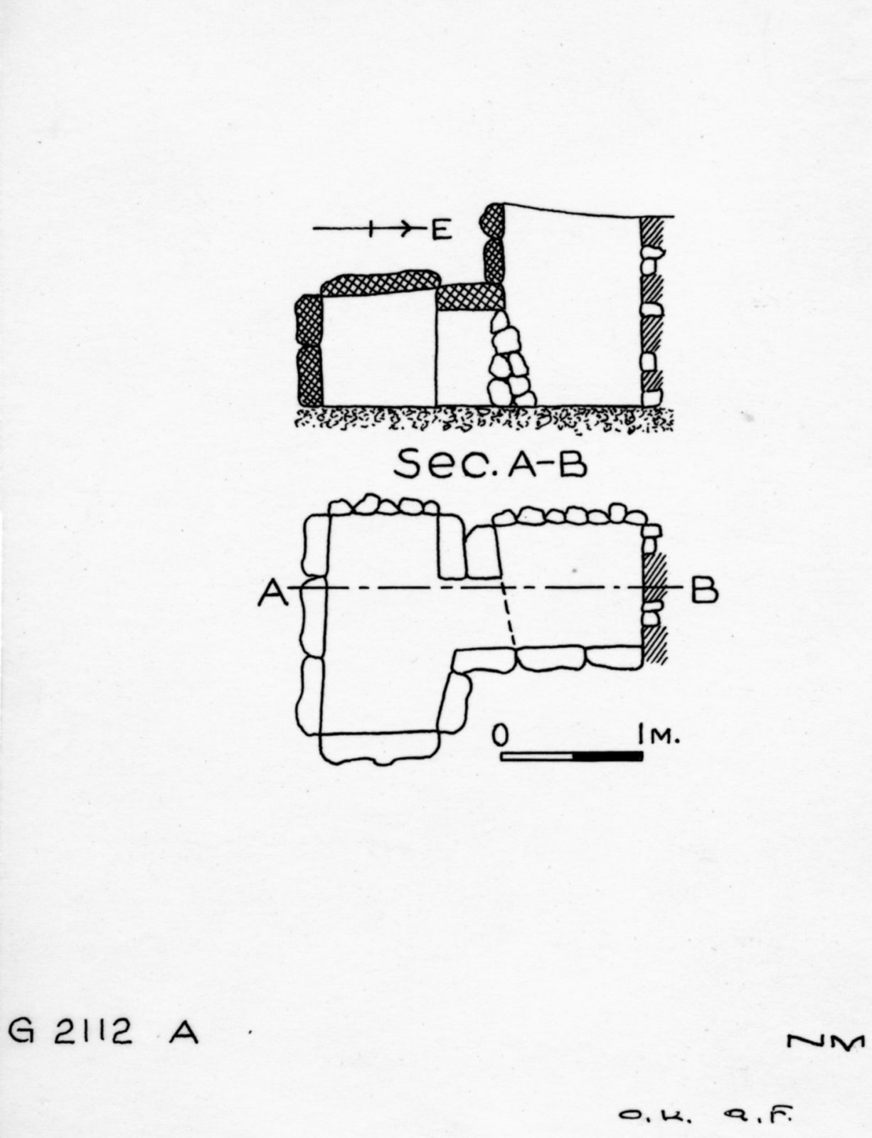 Maps and plans: G 2112, Shaft A