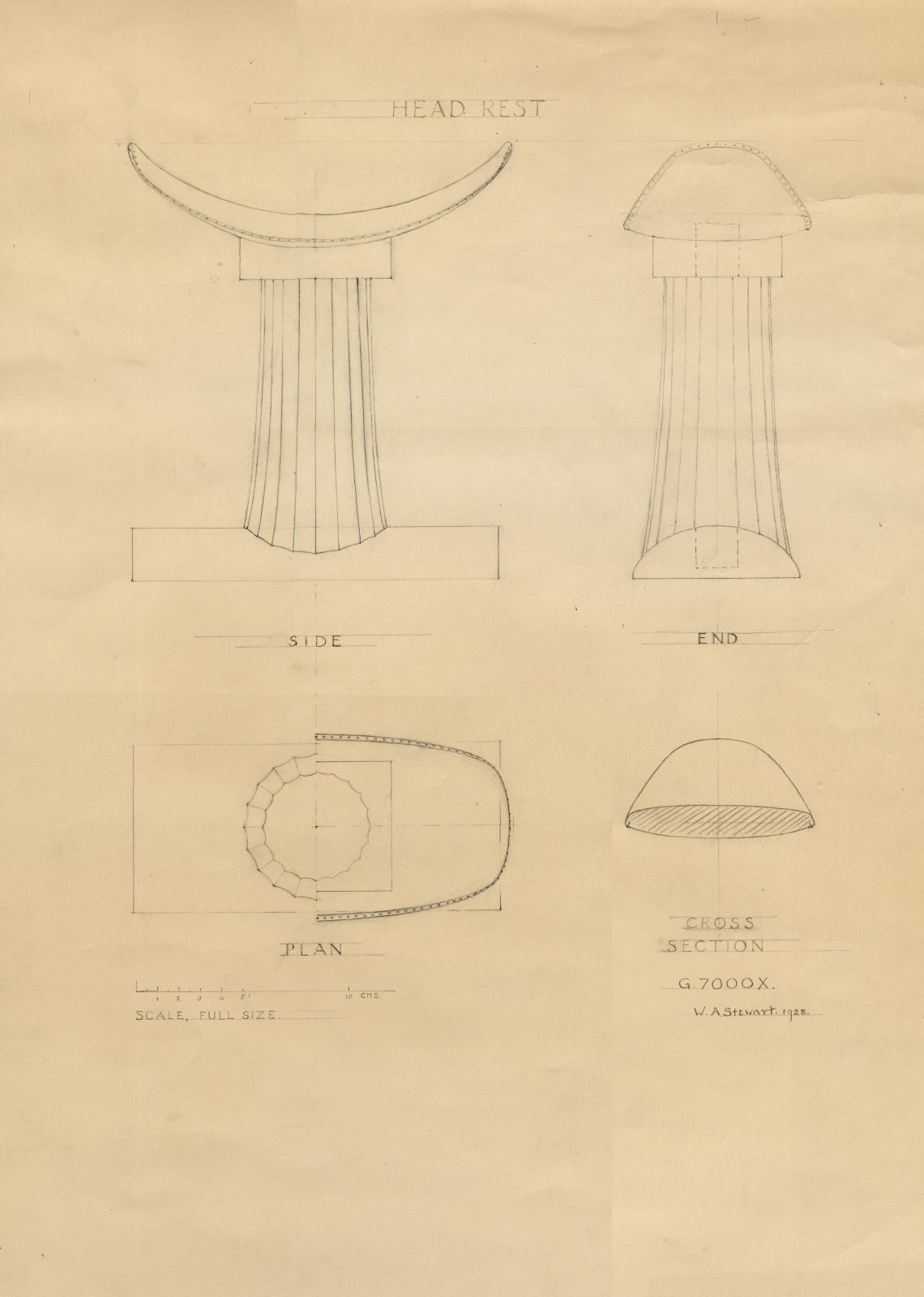 Drawings: G 7000 X: headrest