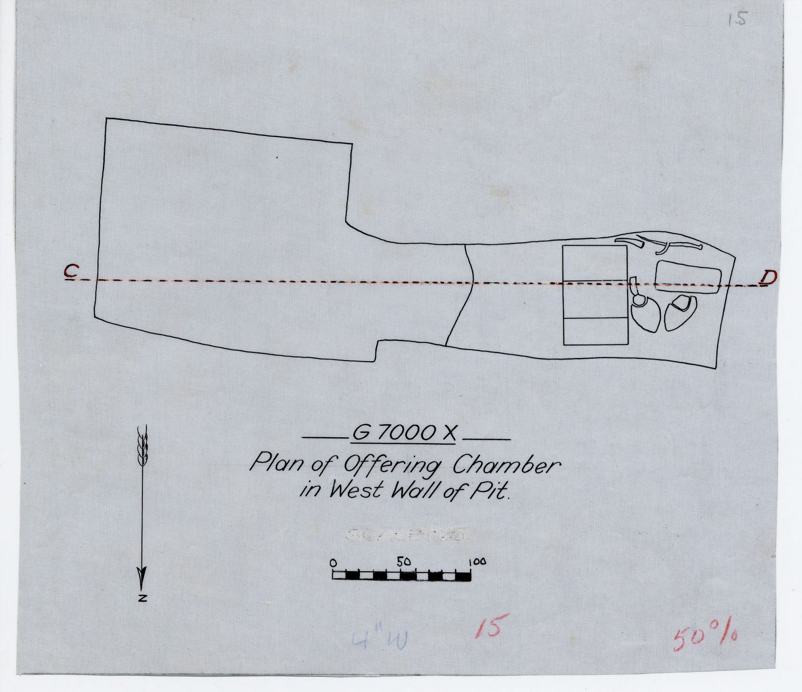 Maps and plans: G 7000 X, Plan of offering chamber