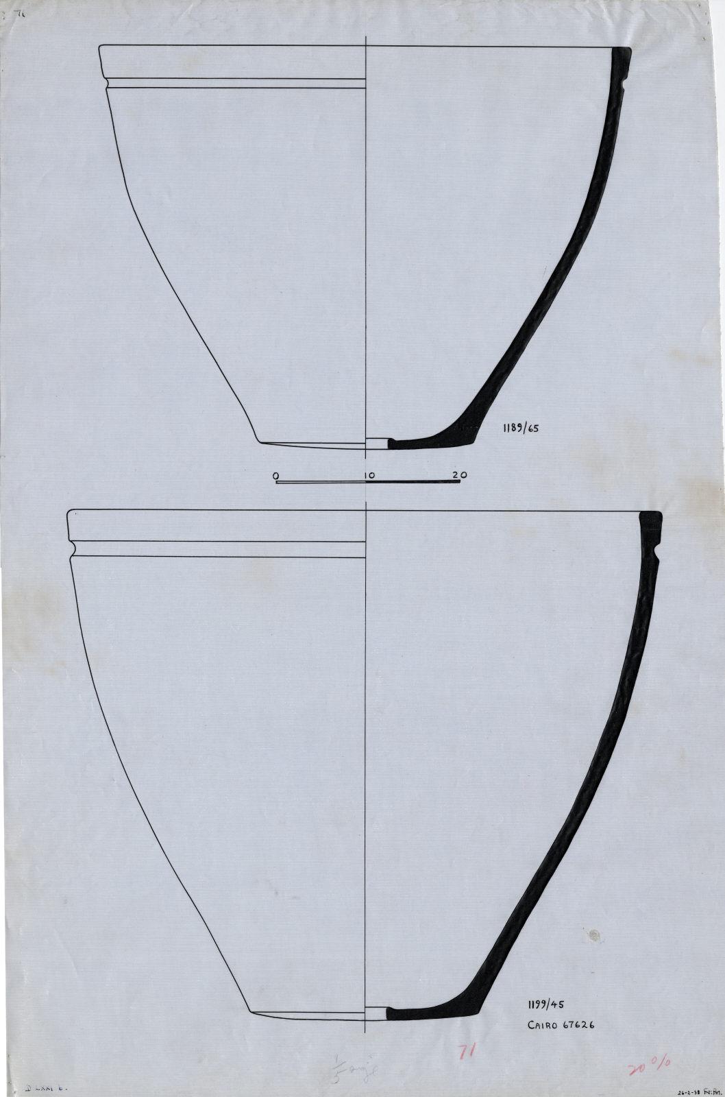 Drawings: G 7000 X: pottery, basins