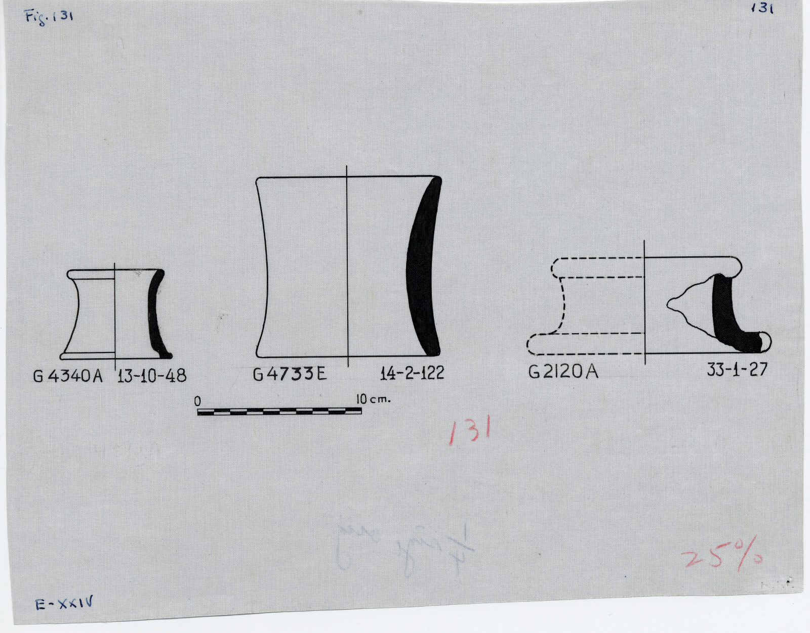 Drawings: Pottery from G 2120, G 4340, G 4733