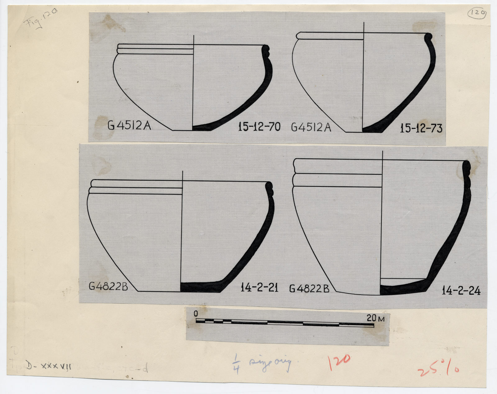 Drawings: Pottery from G 4512 and G 4822