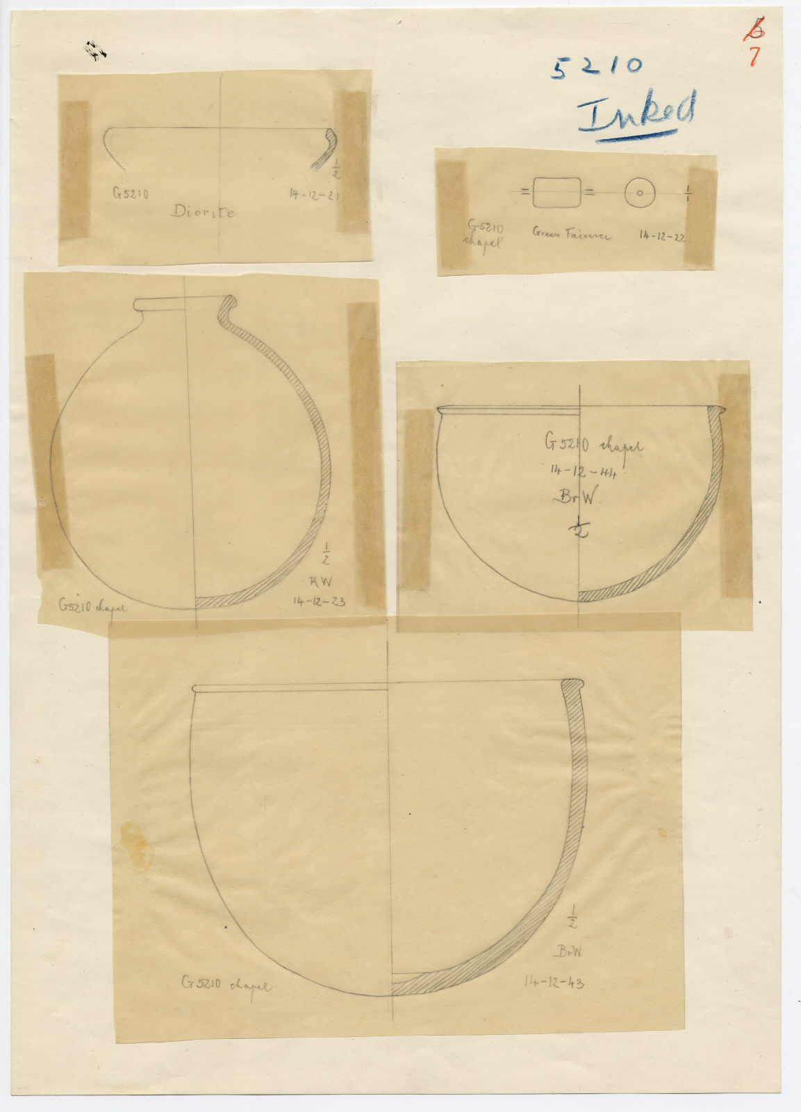 Drawings: G 5210: objects