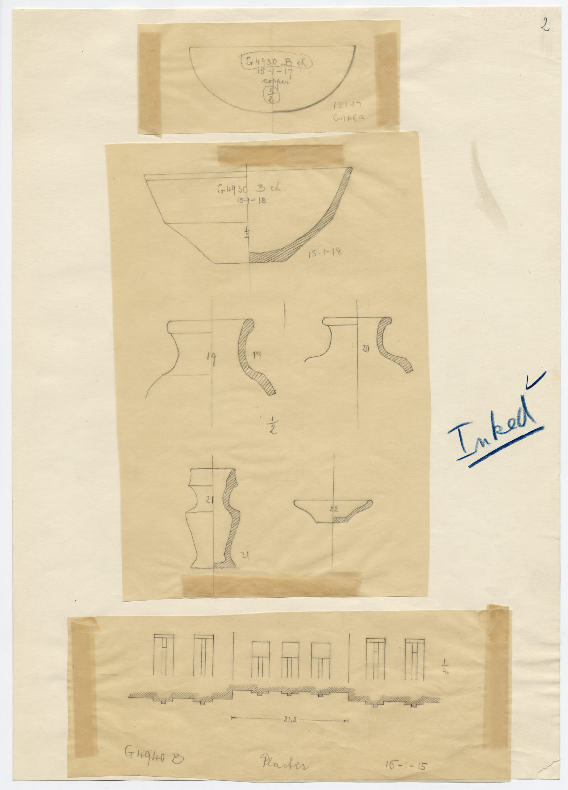 Drawings: Objects from G 4930 and G 4940