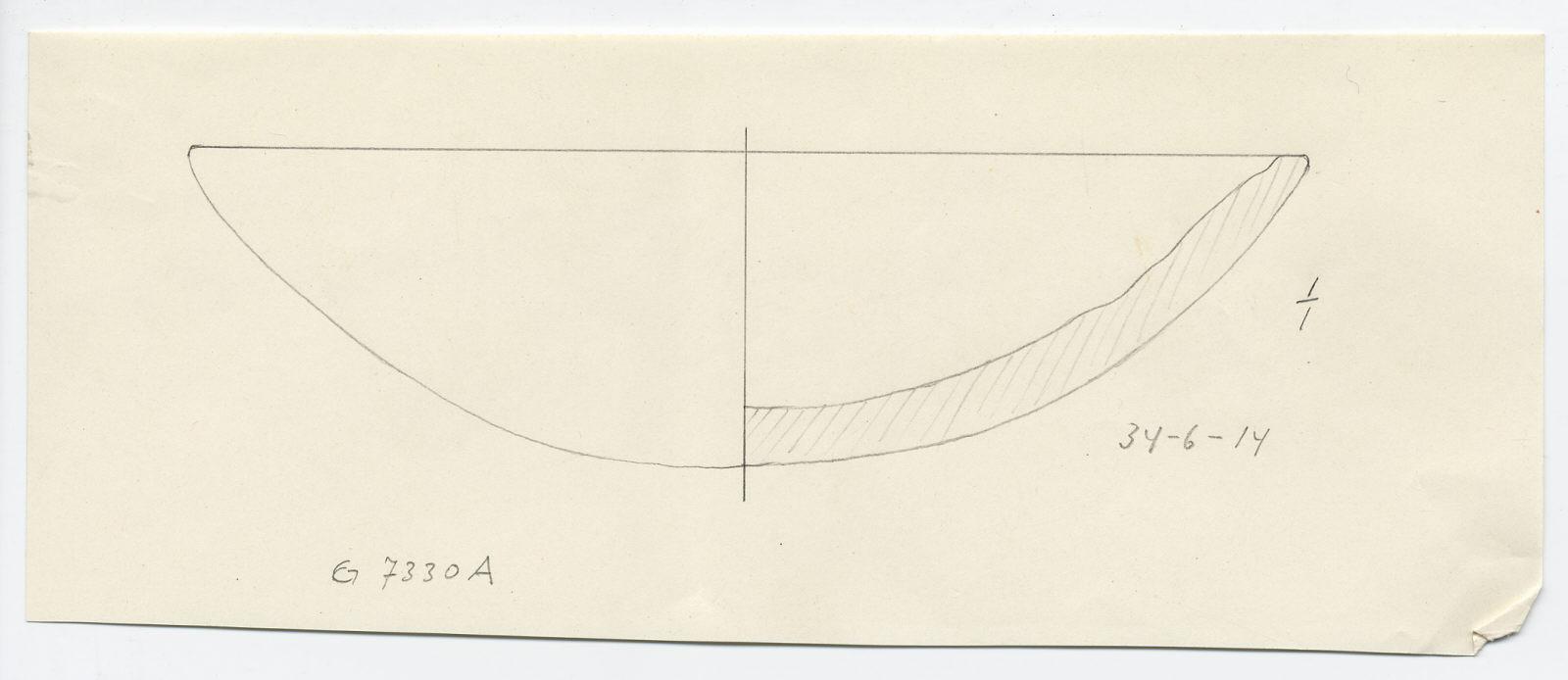 Drawings: G 7330, Shaft A: alabaster bowl