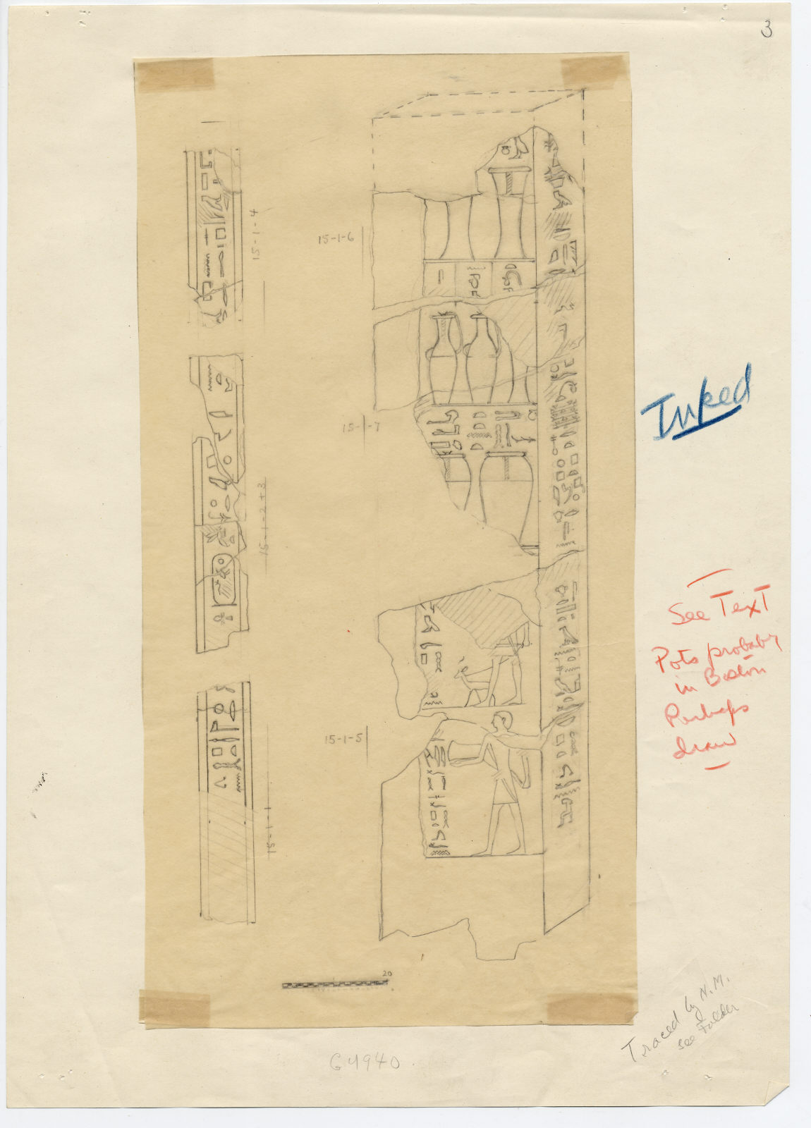 Drawings: G 4940: fragments of relief