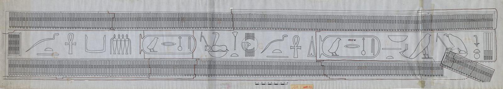 Drawings: G 7000 X: curtain box (reproduction)