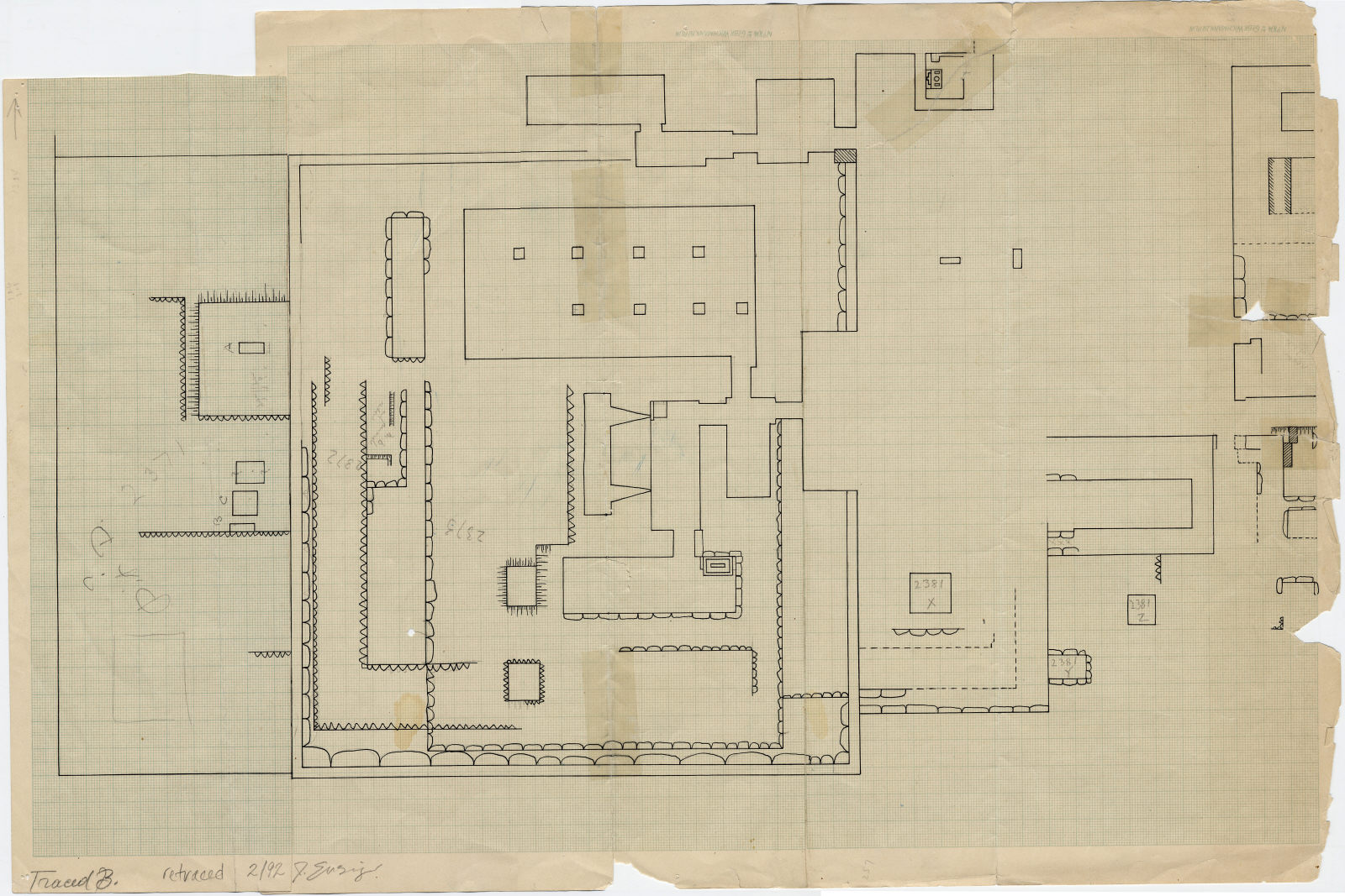 Maps and plans: Plan of G 2370, G 2371, G 2372, G 2373, G 2381, G 2383