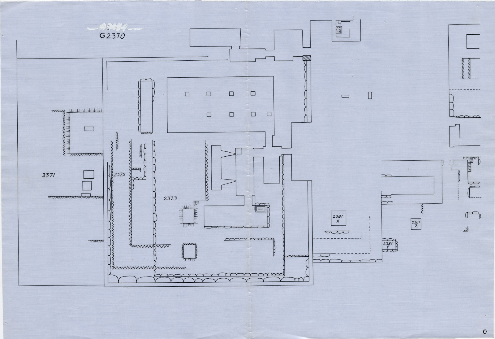 Maps and plans: Plan of G 2370, G 2371, G 2372, G 2373, G 2381