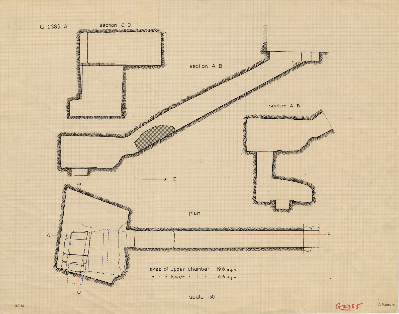 Maps and plans: G 2385, Shaft A